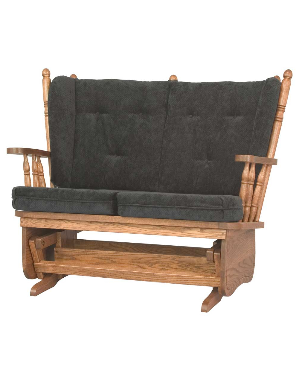 2019 4 Post Low Back Loveseat Glider Intended For Low Back Glider Benches (View 9 of 30)