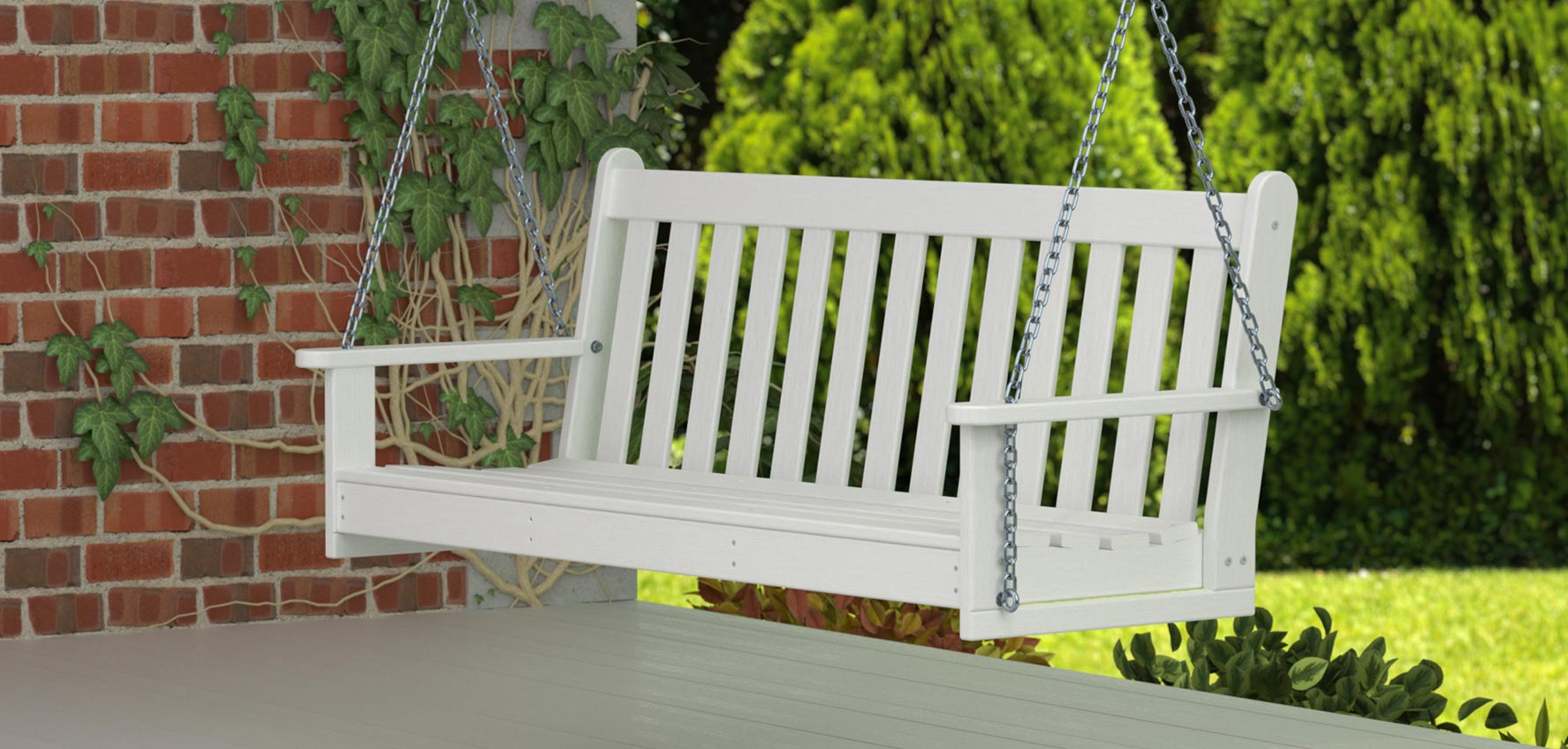 2019 All Weather Outdoor Benches, Swings, & Gliders – Vermont Pertaining To Low Back Glider Benches (View 25 of 30)