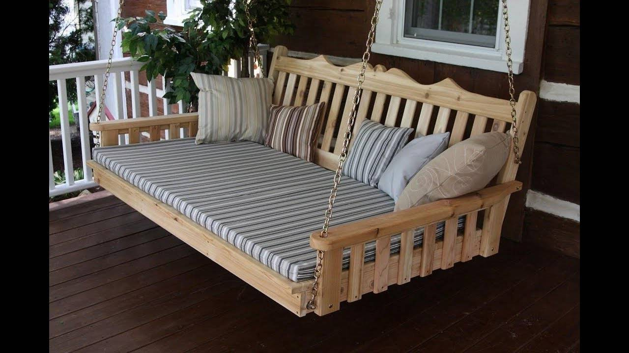 2019 Day Bed Porch Swings Pertaining To Awesome Bedrooms Swinging Porch Swing Designs Hanging Large (View 19 of 30)