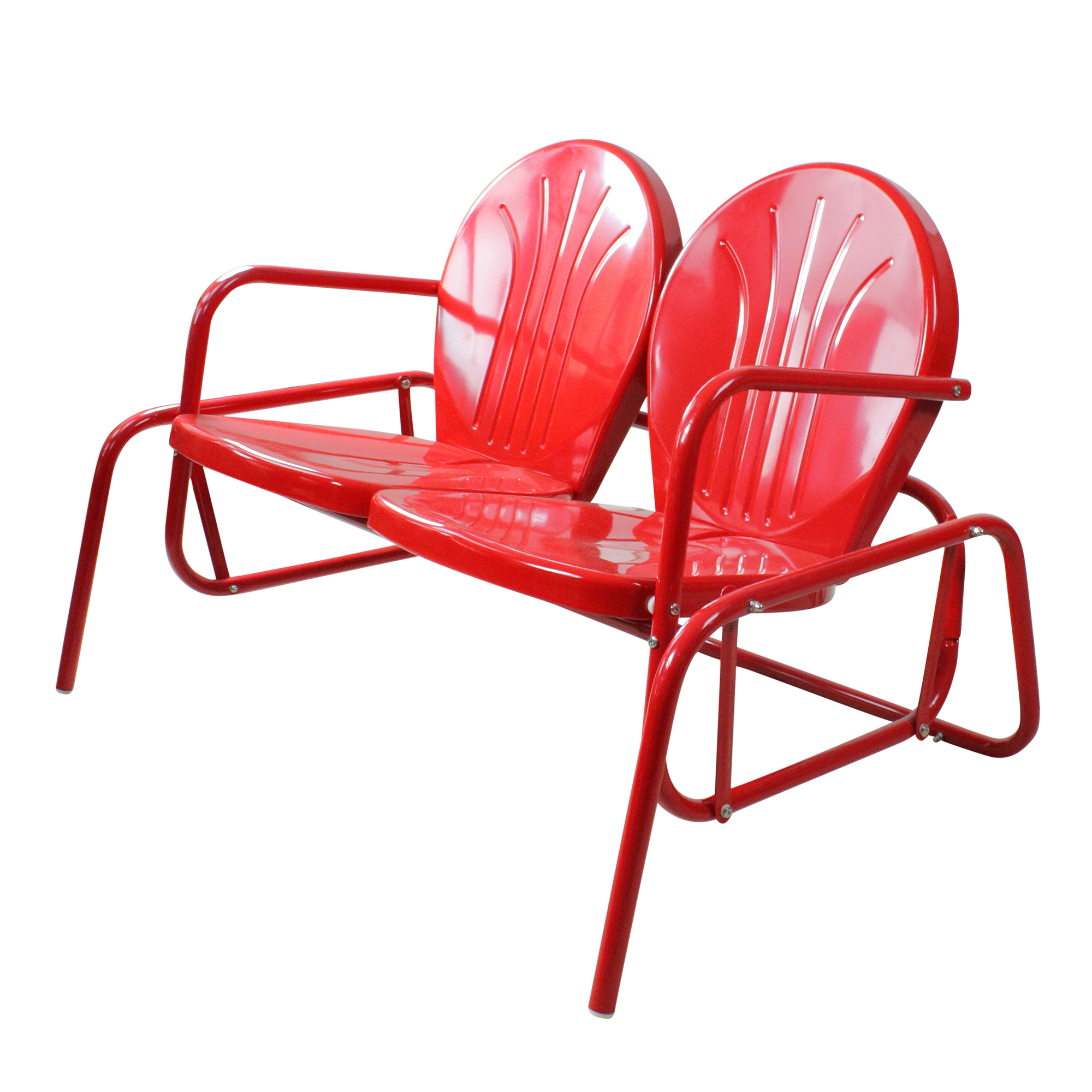 2019 Details About Northlight Vibrant Red Retro Metal Tulip Outdoor Double Glider Intended For Outdoor Retro Metal Double Glider Benches (View 17 of 30)
