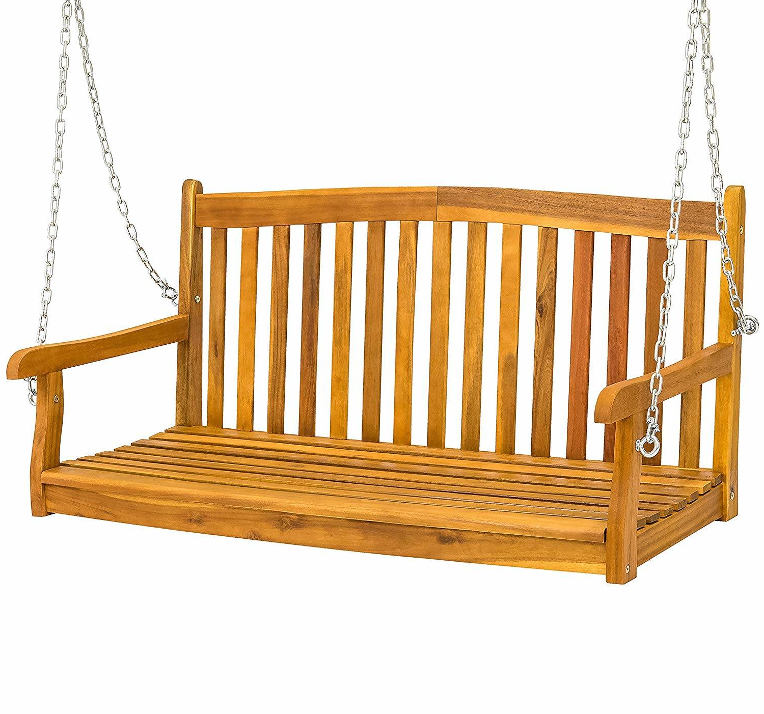2019 Porch Swings With Canopy Within Outstanding Wooden Kit Porch Bench Swing Furniture Patio (View 22 of 30)