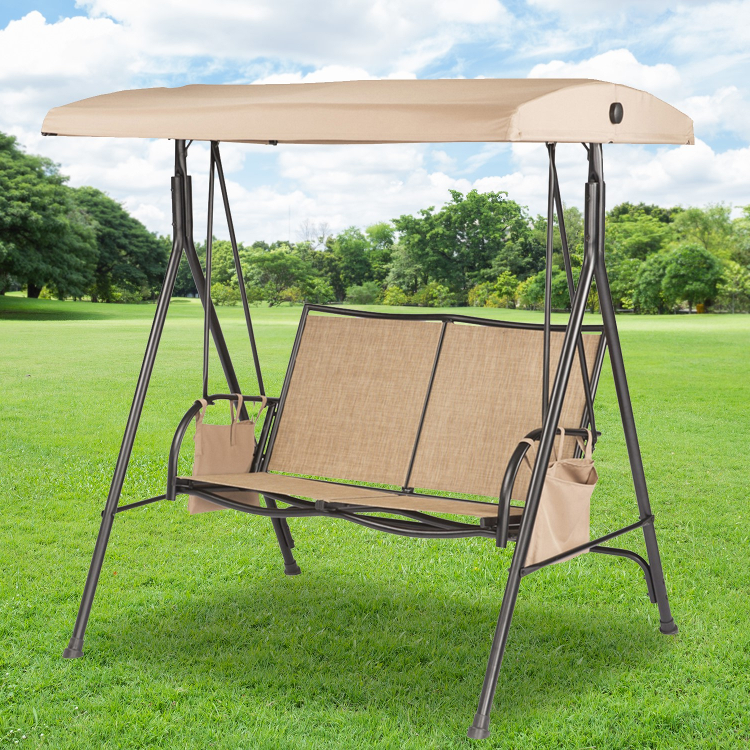 2019 Replacement Swing Canopies For Lowe's Swings – Garden Winds Intended For 2 Person Gray Steel Outdoor Swings (View 15 of 30)