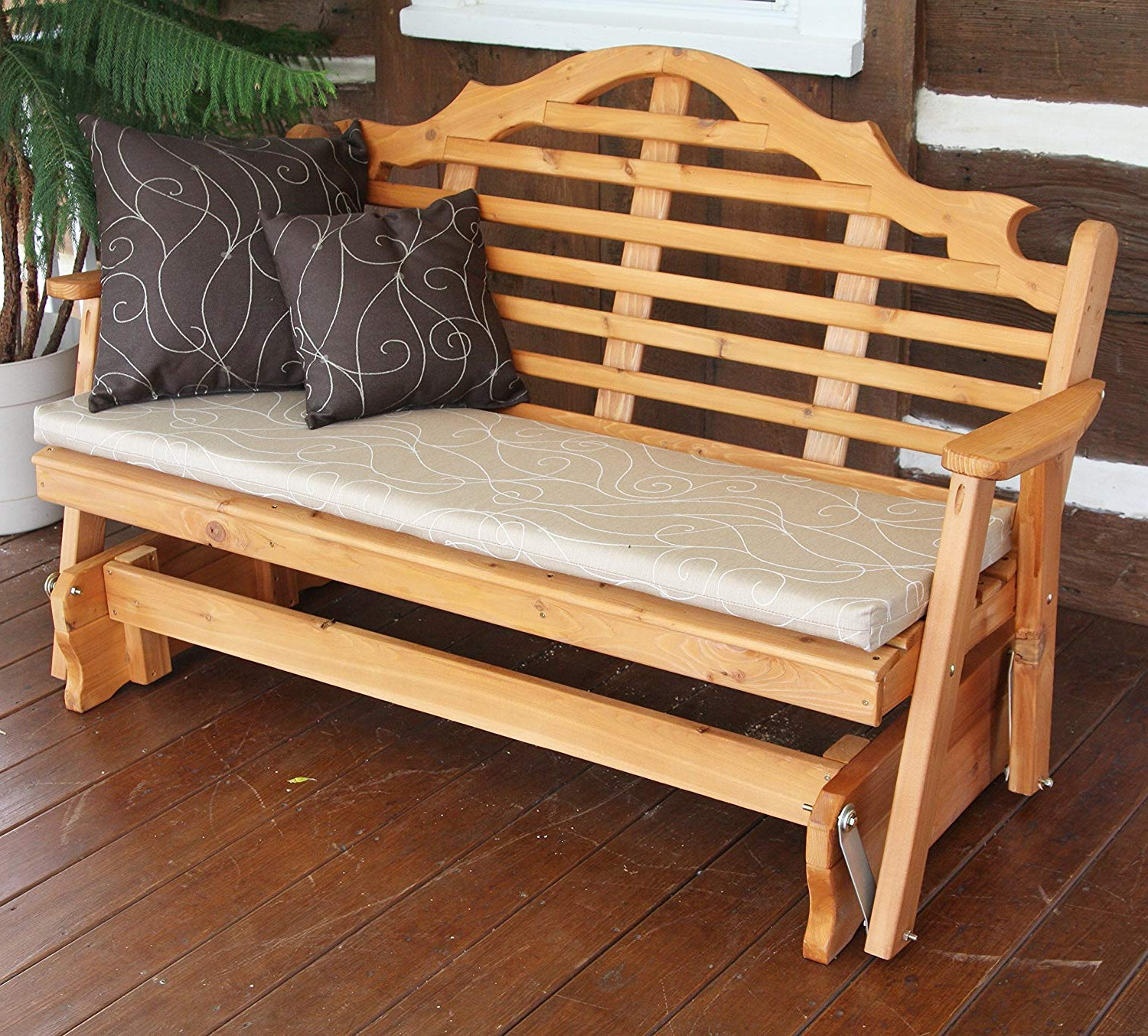 2019 Rocking Glider Benches With Cushions With Regard To Wicker Argos Rocker Replacement Nursery Target Amish Swivel (View 1 of 30)