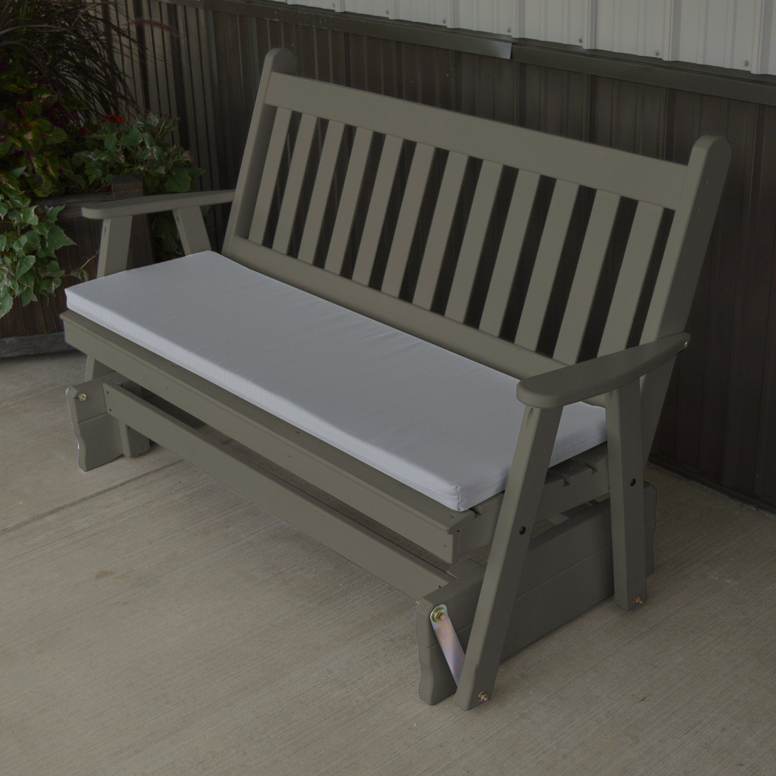2019 Traditional English Glider Benches Throughout A & L Furniture Yellow Pine Traditional English Outdoor (View 2 of 34)