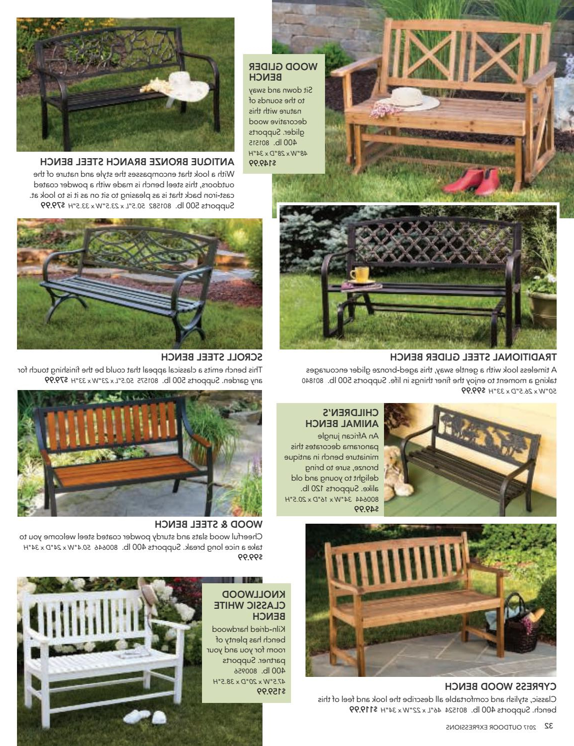 2019 Traditional Glider Benches For 2017 Outdoor Expressions Catalogbrian Secor – Issuu (View 1 of 30)