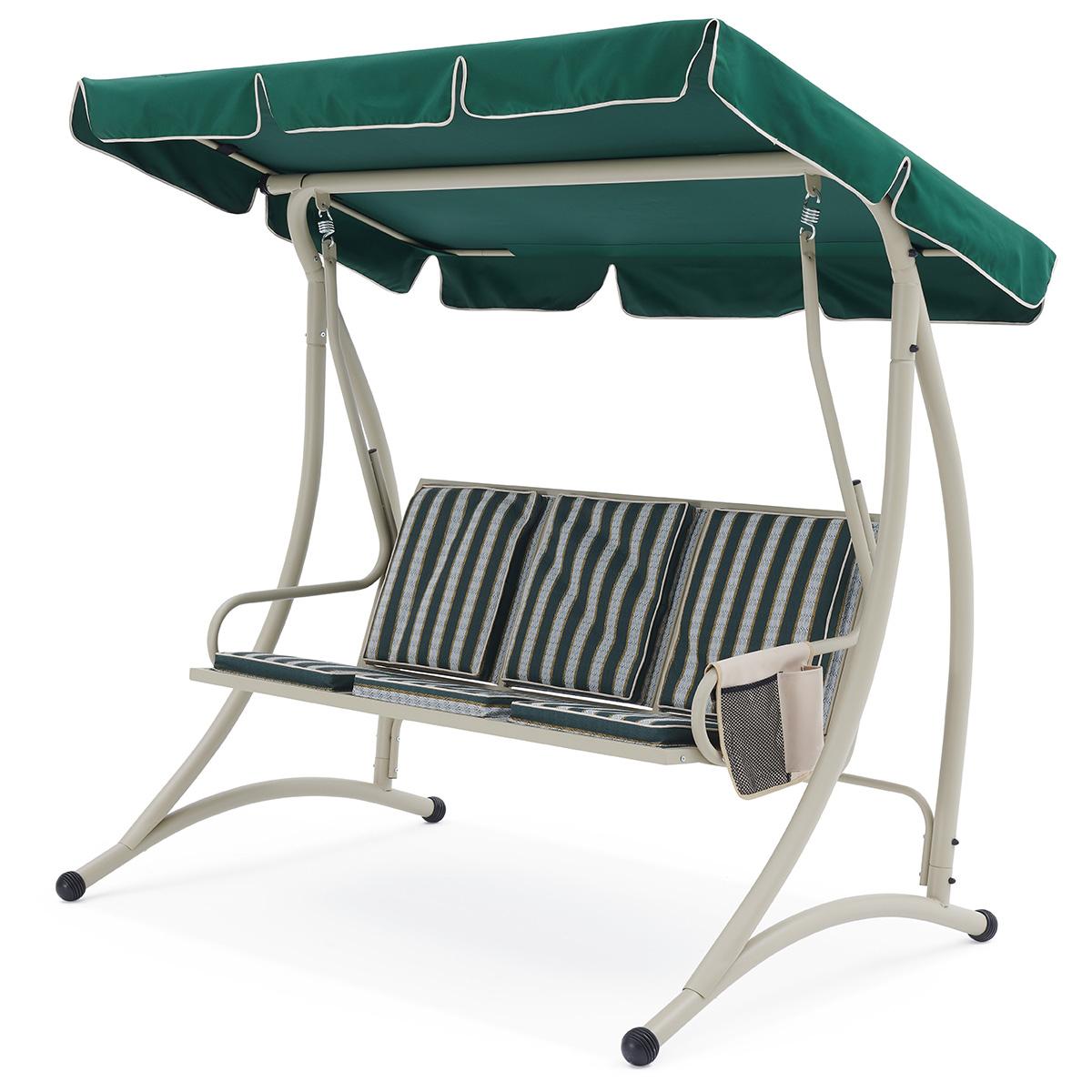 2020 2 Person Gray Steel Outdoor Swings In Korina 3 Seater Swing – أرجوحات – مفروشات في الهواء الطلق (View 22 of 30)