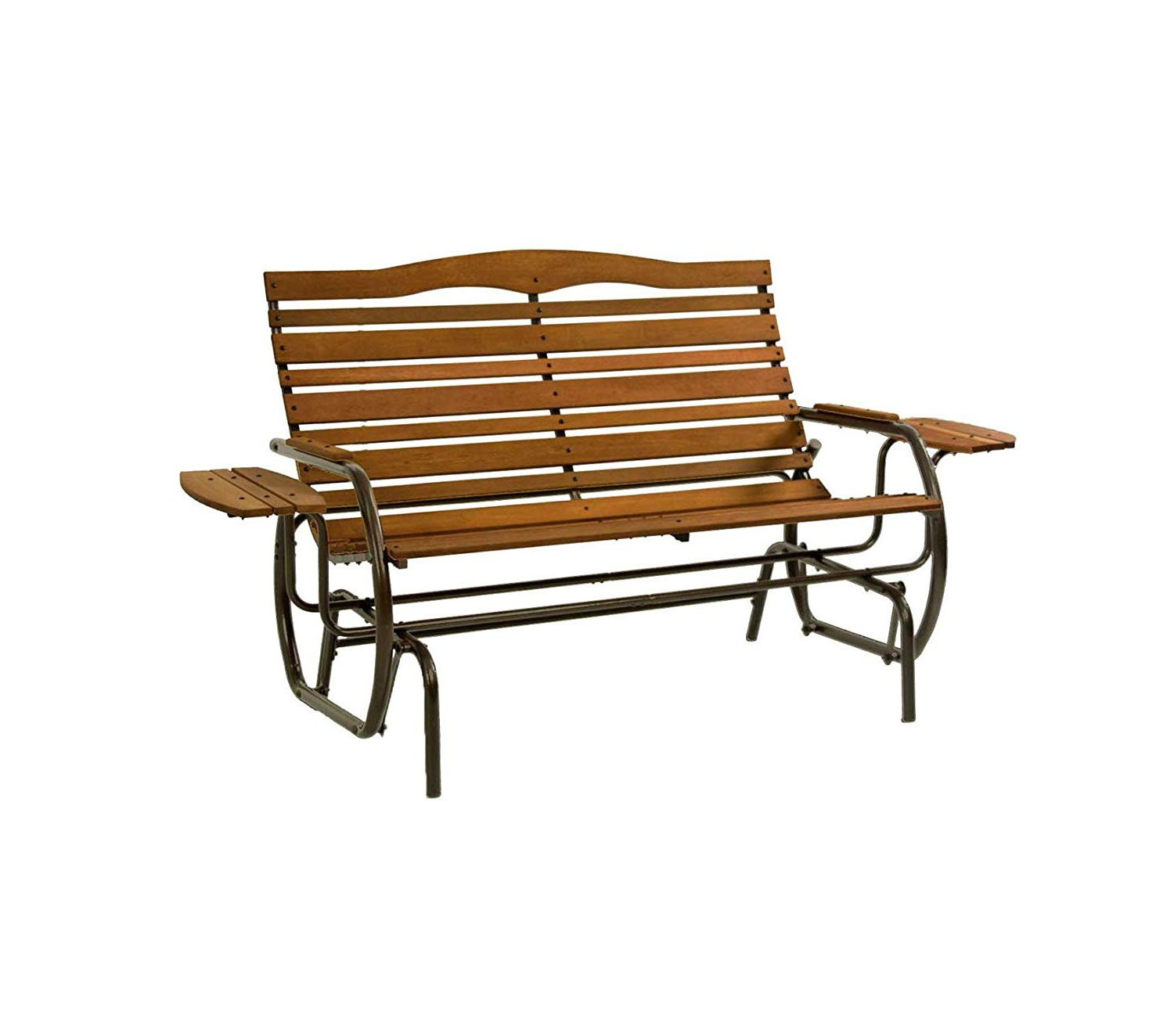 2020 Aluminum Outdoor Double Glider Benches For Jаck Pоst Patio Outdoor Garden Premium Country Garden Double Glider With  Trays, Bronze (View 1 of 30)