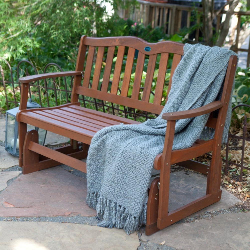 2020 Front Porch Furniture Glider Loveseat Outdoor Patio Swing For Outdoor Patio Swing Glider Bench Chairs (View 7 of 30)