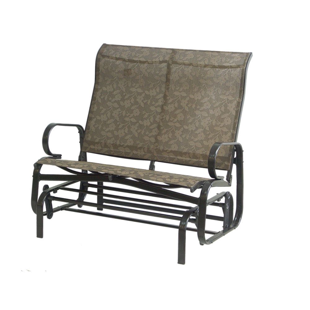 2020 Lotus Double Steel Glider – Dura Housewares With Outdoor Fabric Glider Benches (View 14 of 30)
