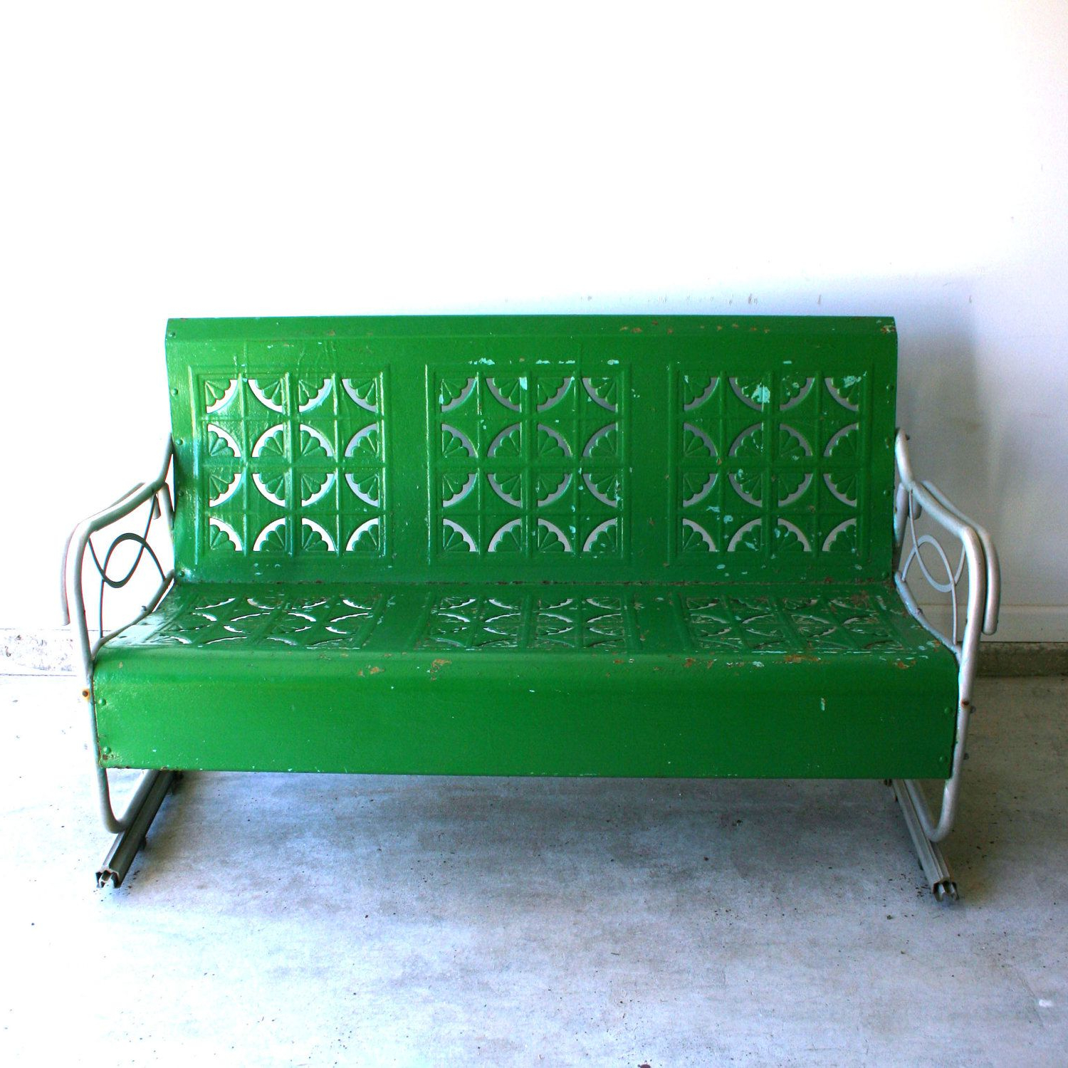 Featured Photo of Metal Retro Glider Benches