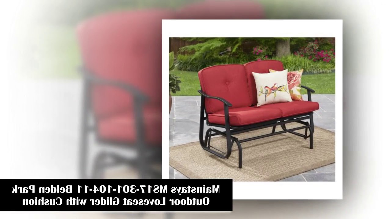 2020 Top 10 Outdoor Glider To Buy In 2018 – Youtube With Regard To Outdoor Loveseat Gliders With Cushion (View 26 of 30)