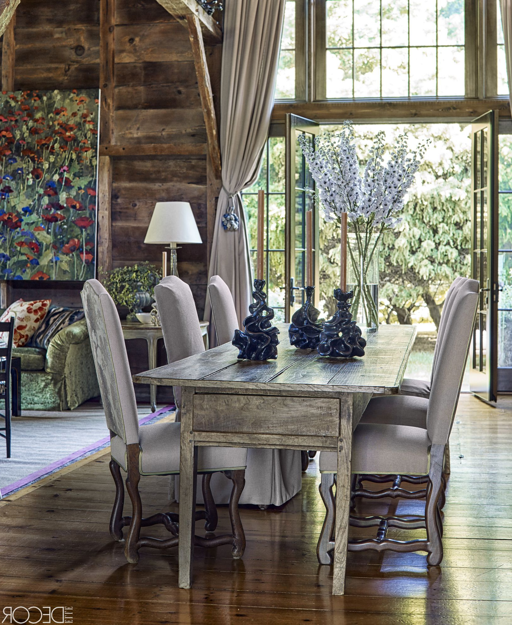 25 Rustic Dining Room Ideas – Farmhouse Style Dining Room With Newest Rustic Country 8 Seating Casual Dining Tables (View 22 of 30)