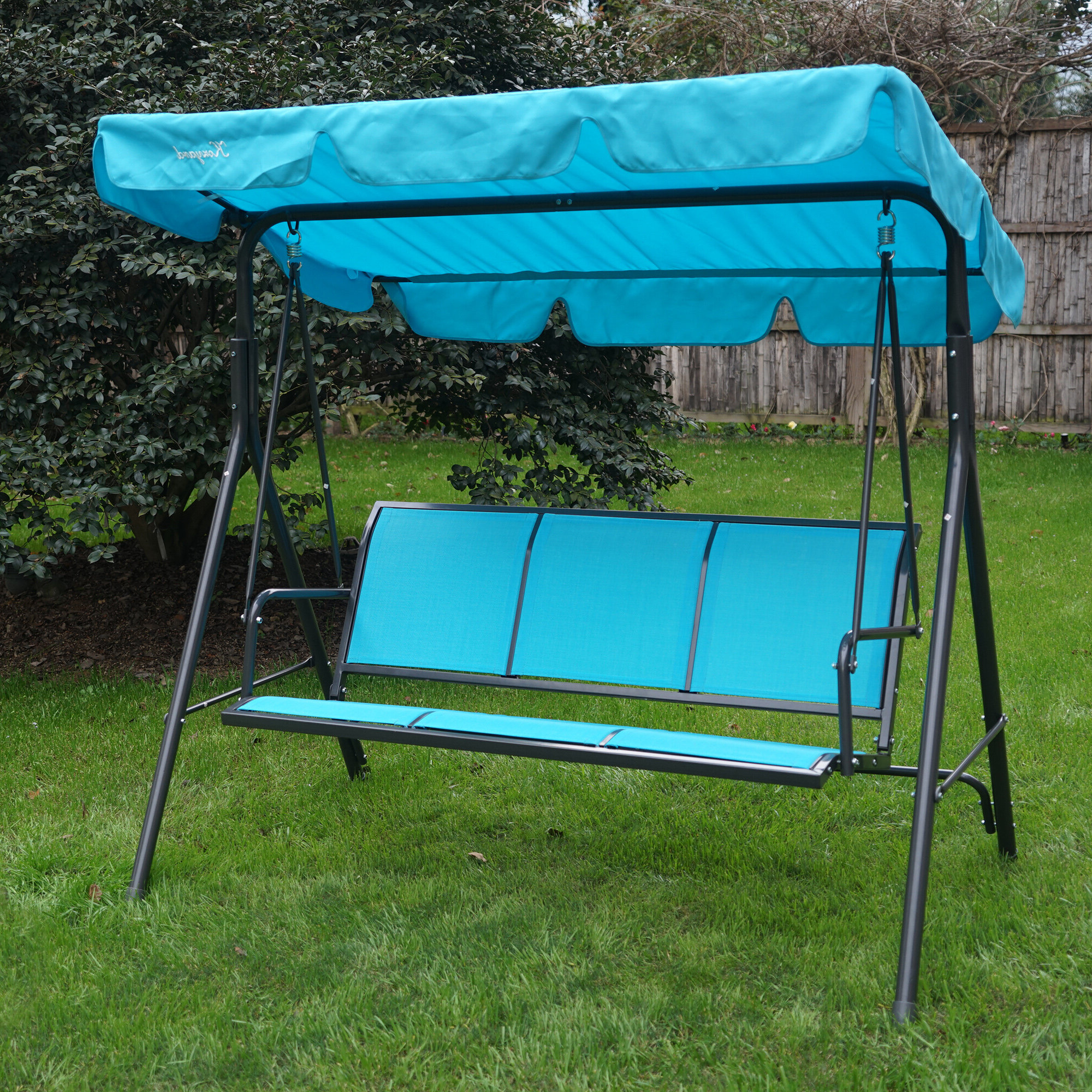 3 Person Outdoor Porch Swings With Stand Inside Popular Decatur 3 Person Outdoor Porch Swing With Stand (View 6 of 30)