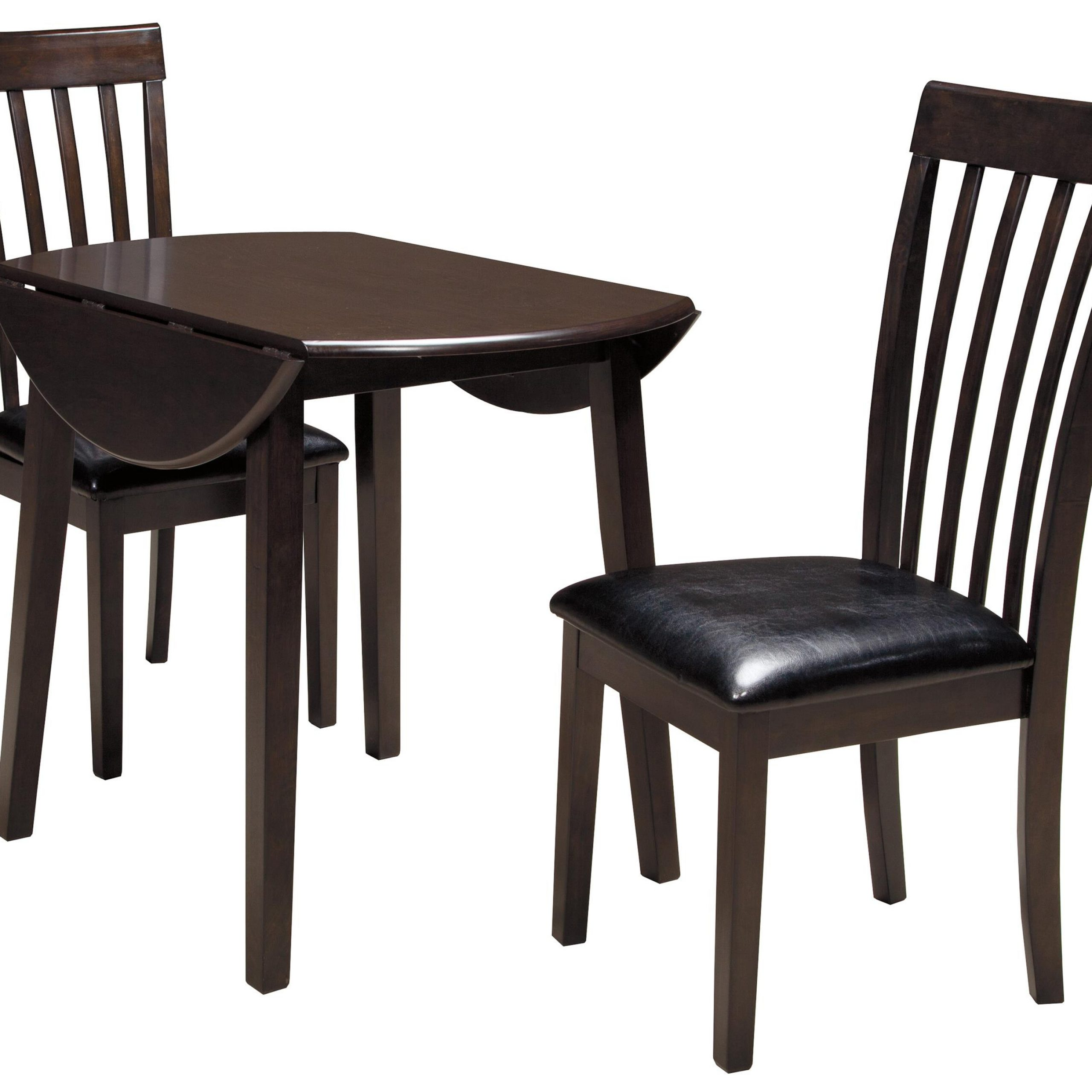 3 Piece Round Drop Leaf Table Setsignature Design Regarding Recent Transitional 4 Seating Drop Leaf Casual Dining Tables (View 20 of 30)