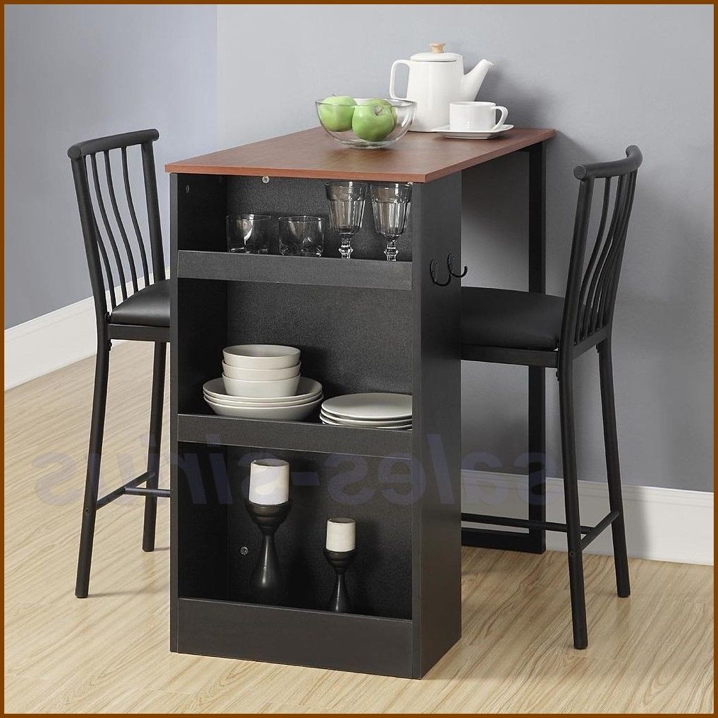 3 Pieces Dining Tables And Chair Set For Famous Details About 3 Piece Dining Table Set With 2 High Chairs (View 7 of 30)