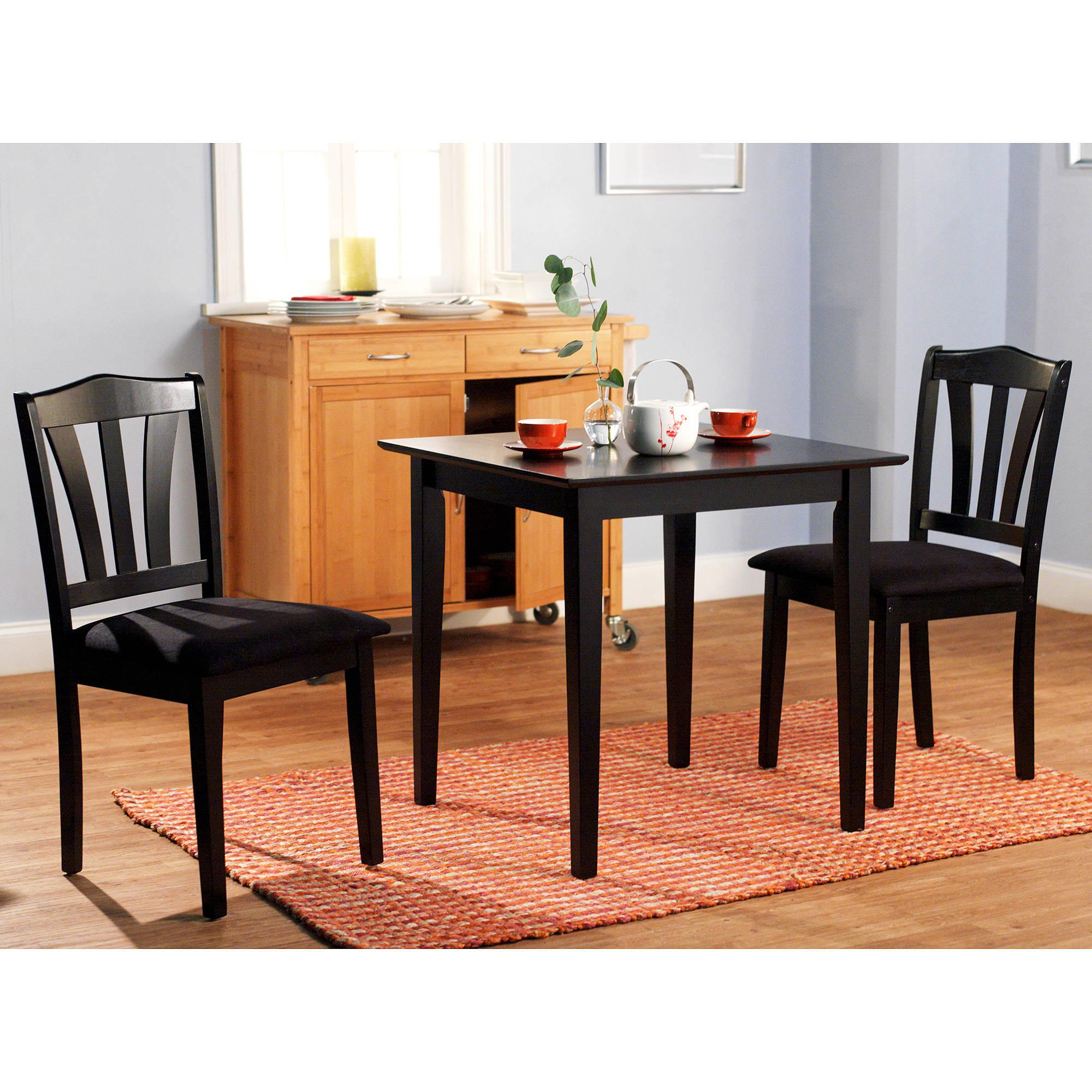 3 Pieces Dining Tables And Chair Set Regarding Widely Used Details About 3 Piece Dining Set Table 2 Chairs Kitchen Room Wood Furniture  Dinette Modern New (Gallery 7 of 30)