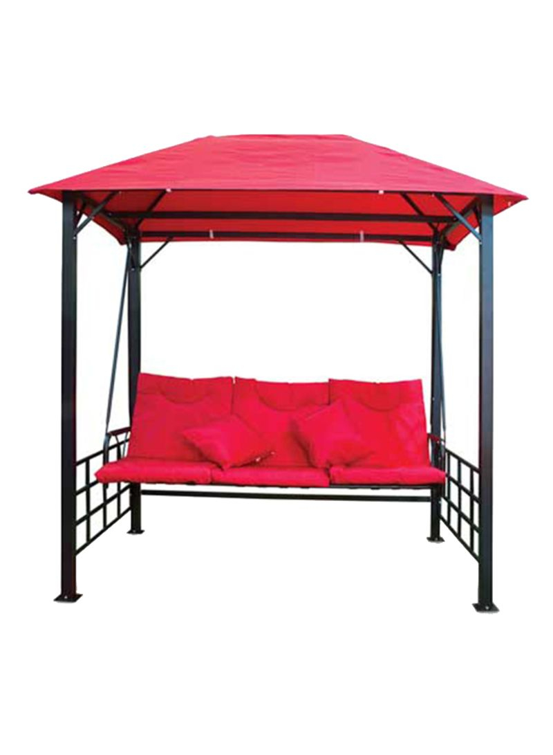 3 Seater Swings With Frame And Canopy Regarding Widely Used Shop Generic 3 Seater Swing Patio With Cushion And Pillow (View 28 of 30)