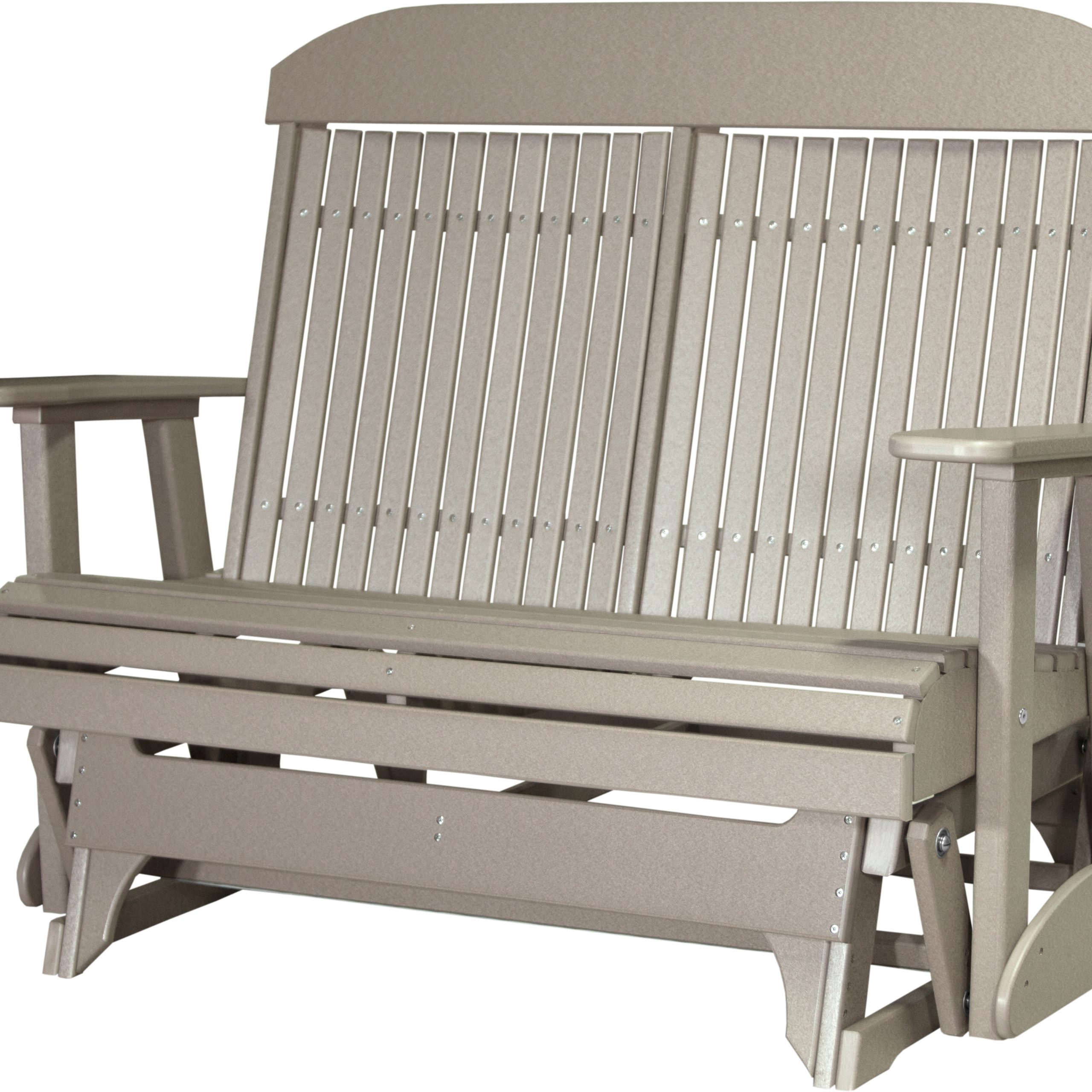 4' Classic Glider – Luxcraft – Luxury Amish Furniture And Regarding Most Popular Classic Glider Benches (View 6 of 30)