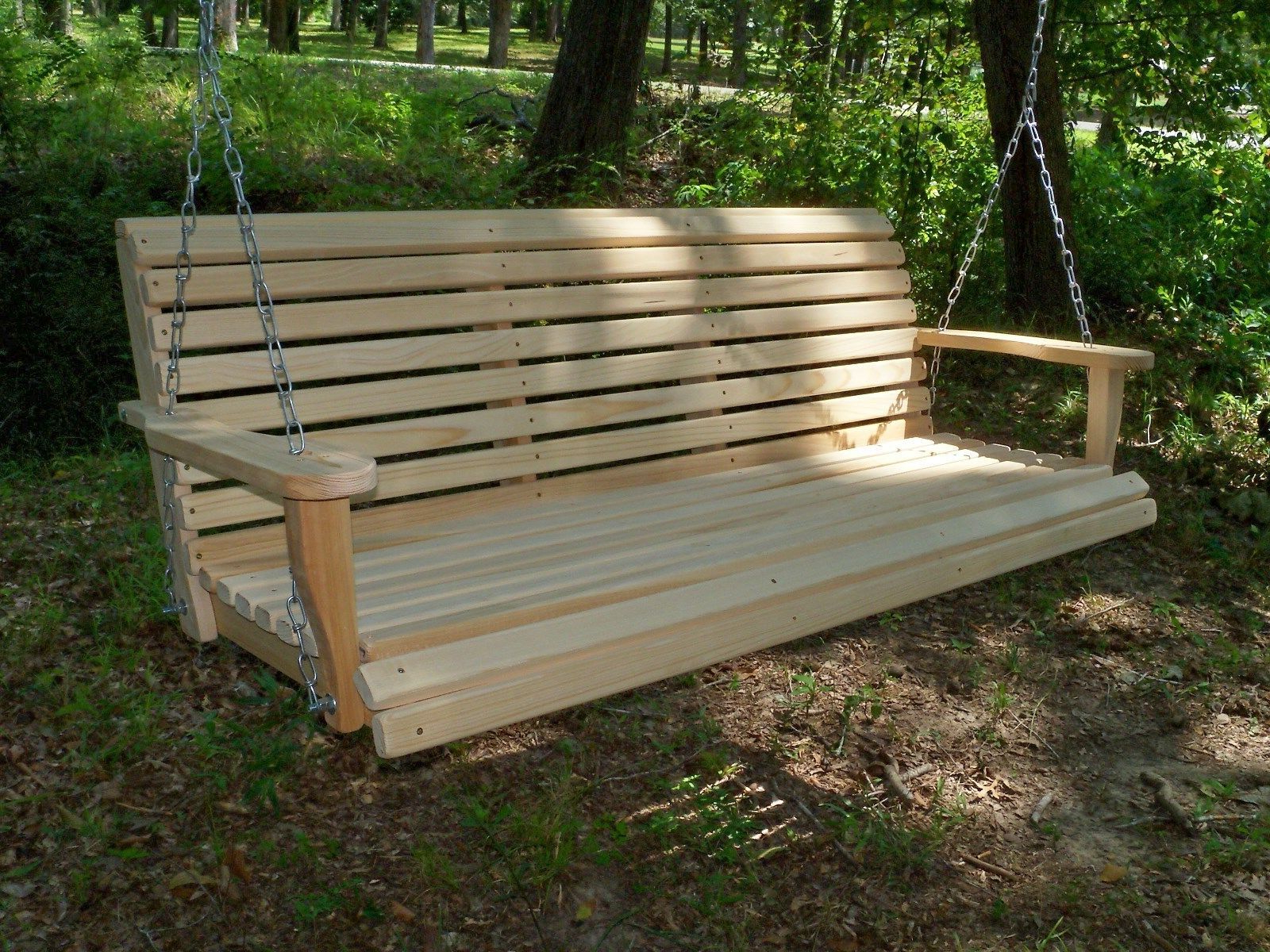 5 Ft Cedar Swings With Springs Regarding Well Liked Details About 5Ft Reg Cypress Wood Wooden Porch Bench Swing (Gallery 14 of 30)