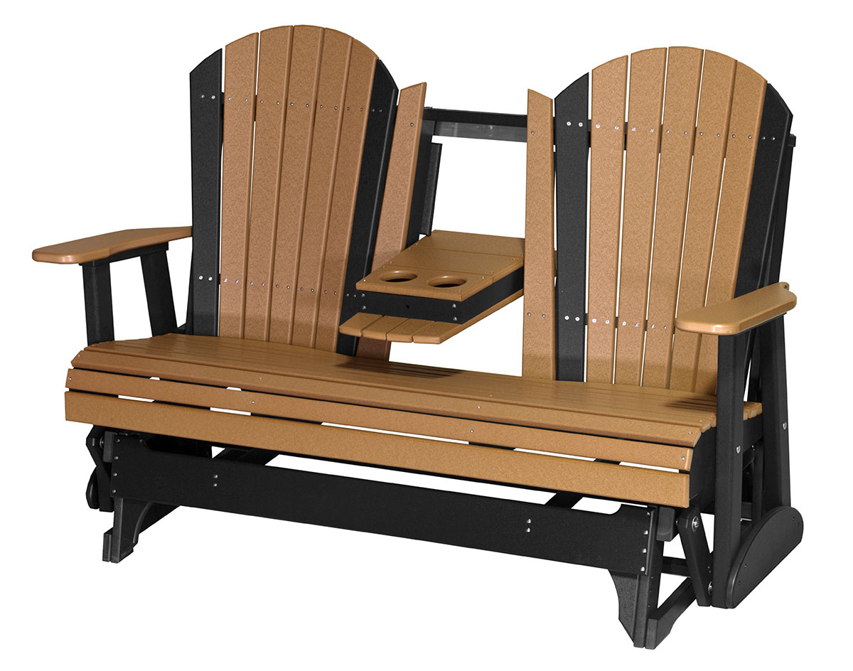 5' Poly Lumber Adirondack Glider In Trendy Classic Adirondack Glider Benches (Gallery 29 of 30)