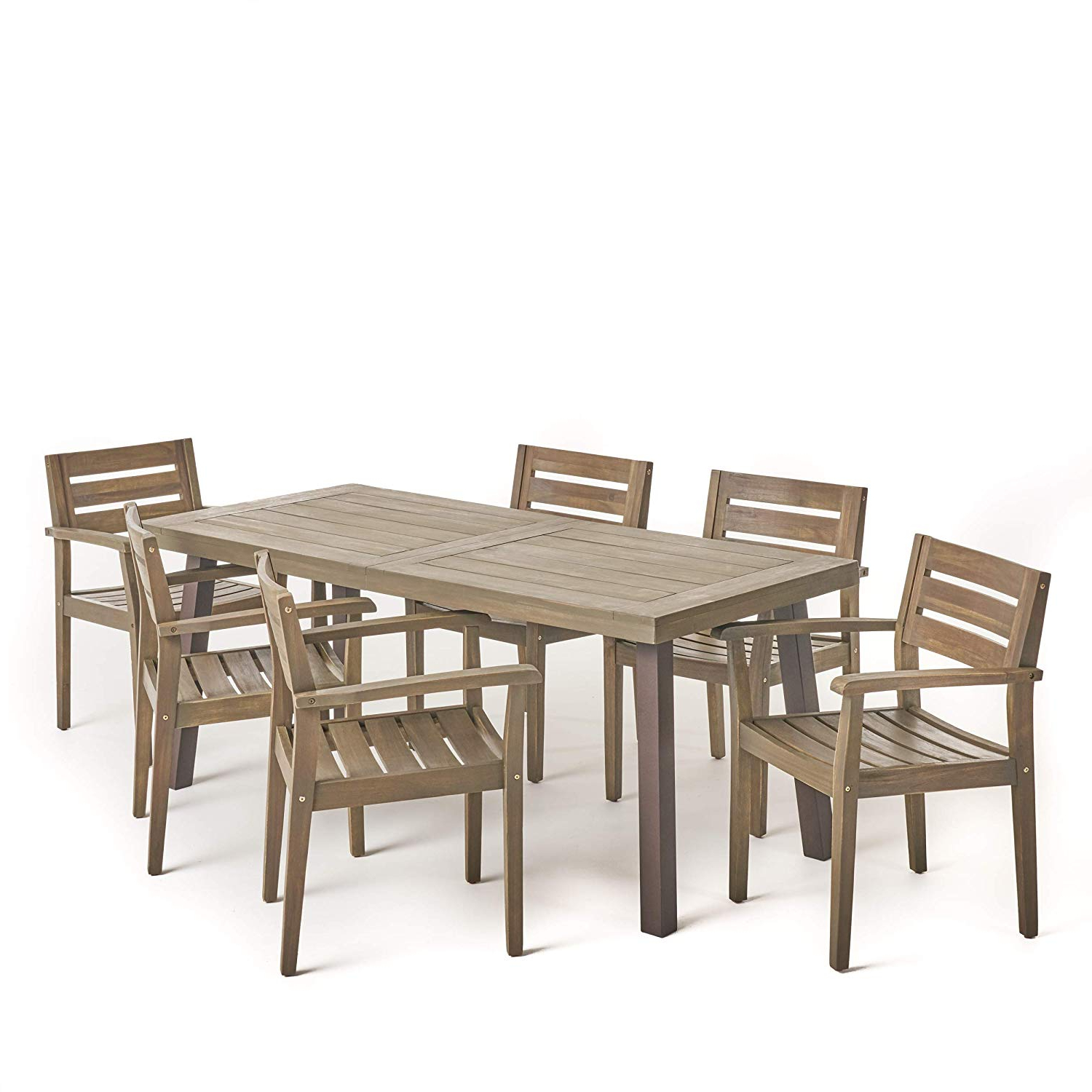 6 For Acacia Top Dining Tables With Metal Legs (View 28 of 30)