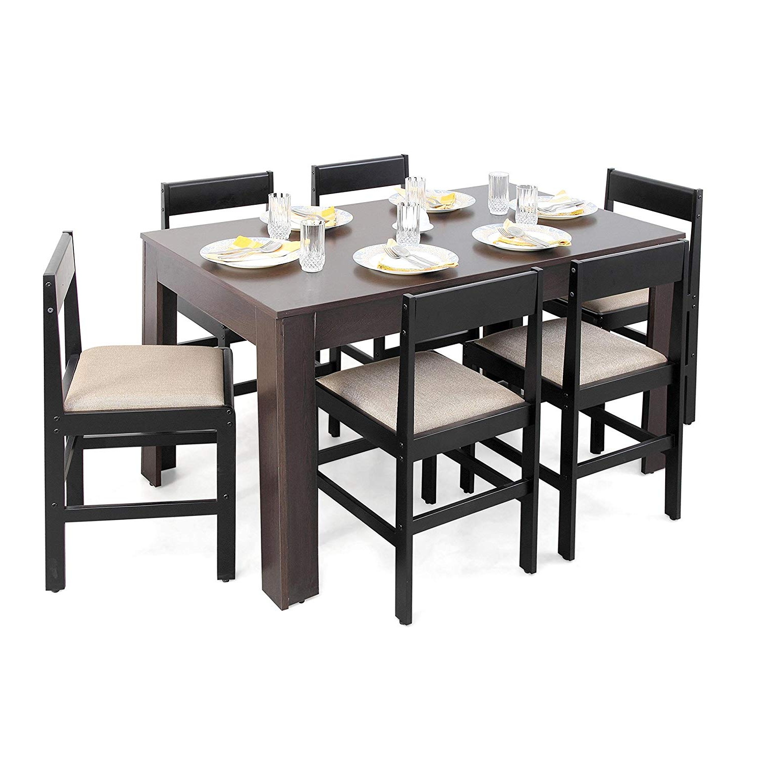 6 Seater Retangular Wood Contemporary Dining Tables Inside Current Best 6 Seater Dining Table Set Under 30000 Online 2020 Descuss (View 18 of 30)