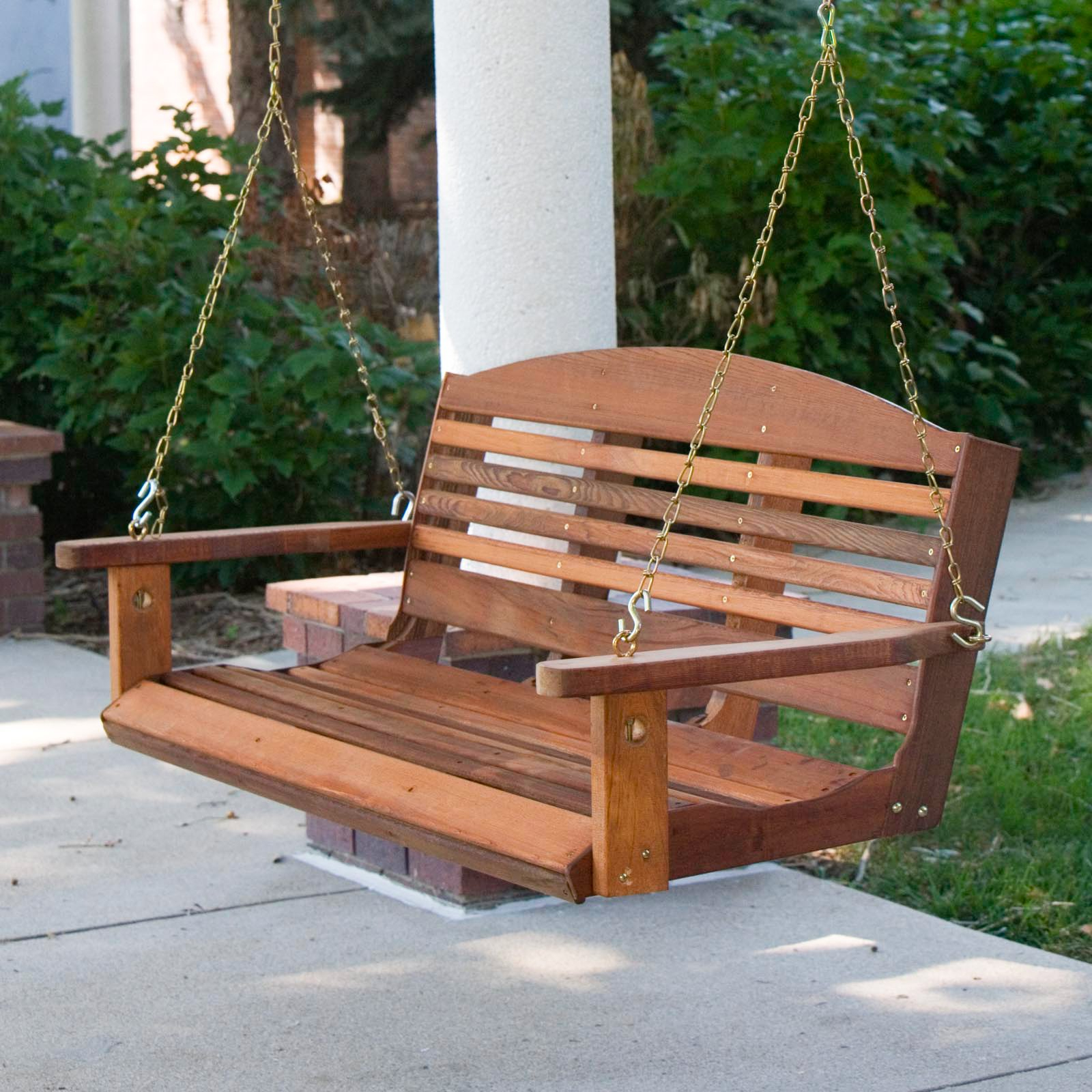 A & L Furniture Western Red Cedar Classic Curved Back For 2019 Contoured Classic Porch Swings (View 30 of 30)
