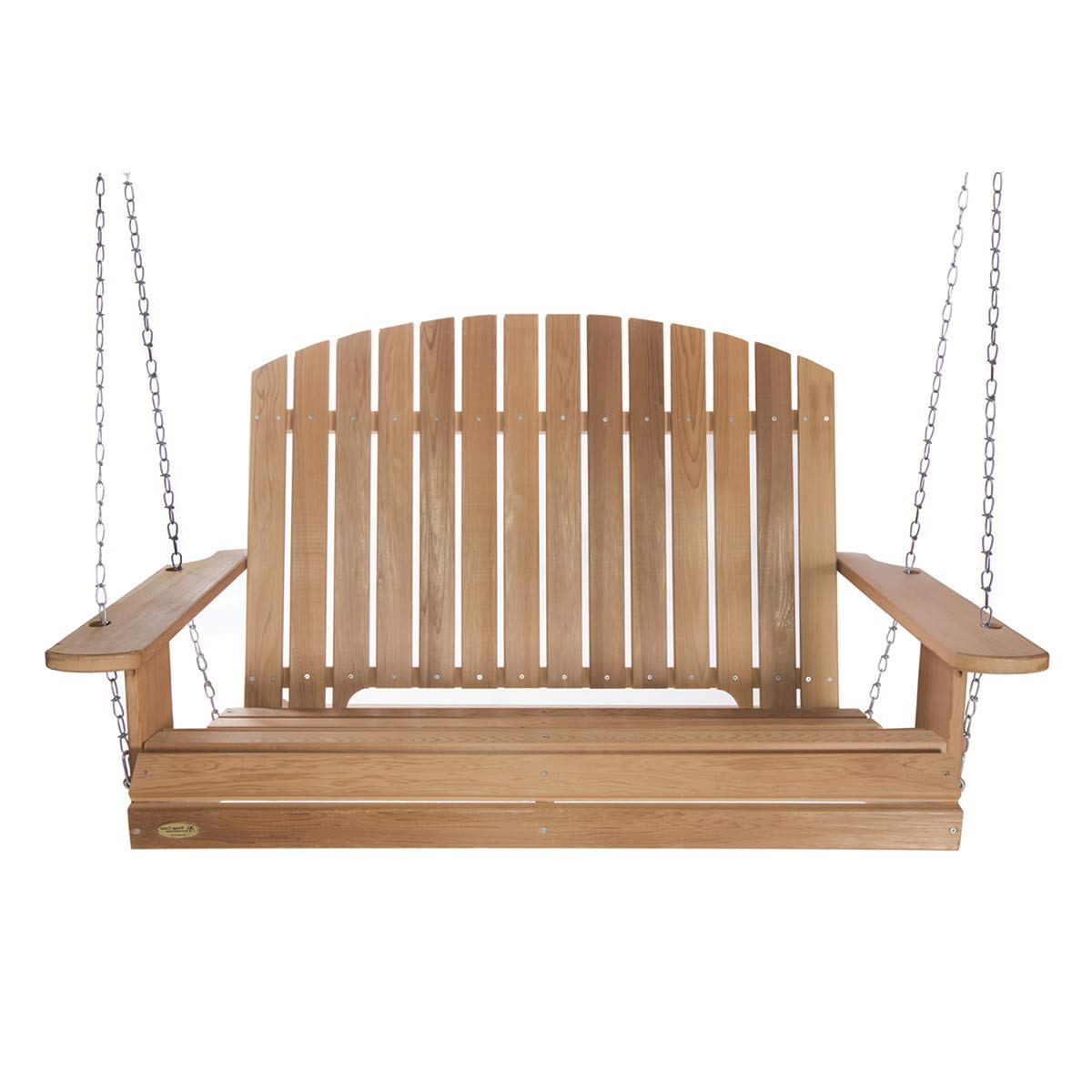 A4 Ft Cedar Pergola Swings For Most Up To Date All Things Cedar Ps60 Sw10 5 Ft Cedar Garden Swing With Comfort Springs (View 4 of 30)