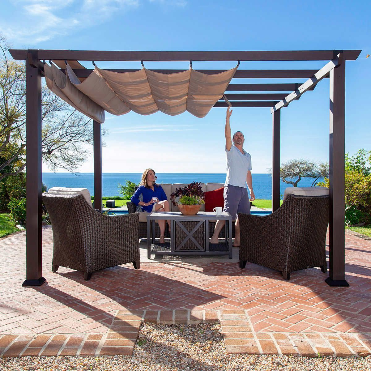 A4 Ft Cedar Pergola Swings Pertaining To Most Recently Released Pin About Pergola Curtains, Aluminum Pergola And Pergola (View 8 of 30)