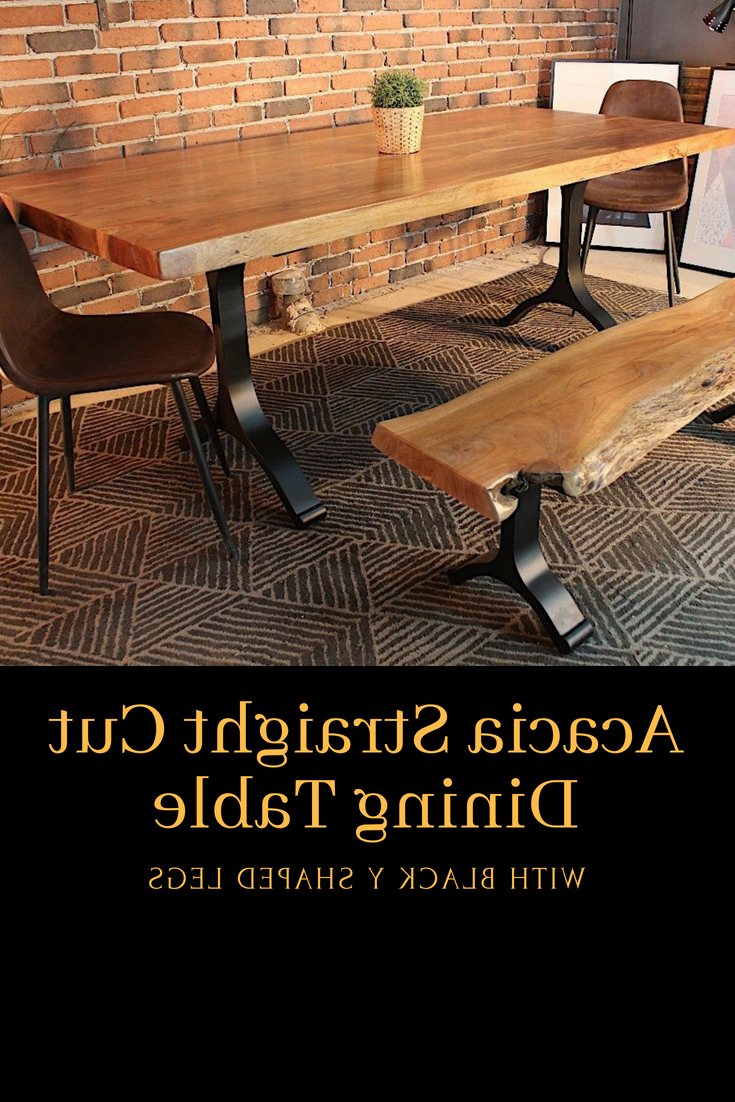 Acacia Dining Tables With Black X Leg Pertaining To Well Known Pin On Natural Acacia Wood Tables (View 22 of 30)