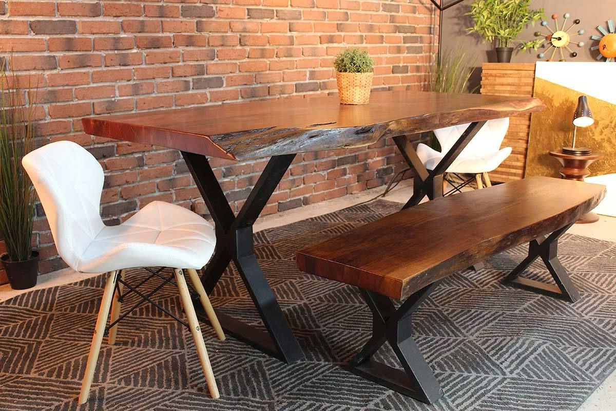 Featured Photo of Acacia Dining Tables With Black X Leg