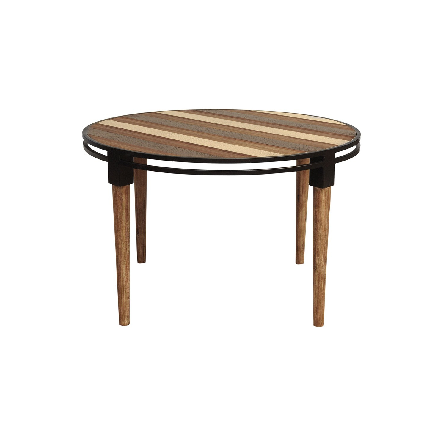 Acacia Wood Medley Medium Dining Tables With Metal Base Pertaining To Well Liked Medley Round Dining Table (View 6 of 30)