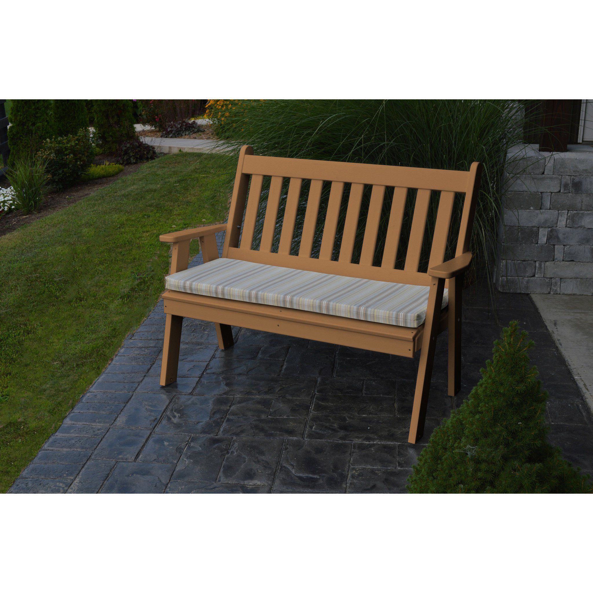 A&l Furniture Company Recycled Plastic 4' Traditional With Widely Used Low Back Glider Benches (View 8 of 30)