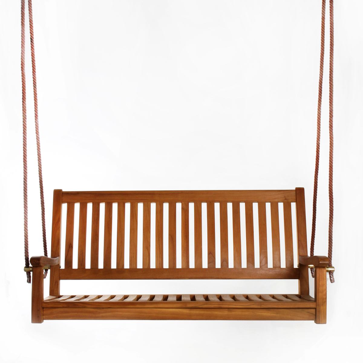 All Things Cedar 26 In X 54 In Brown Teak Swing Inside Latest 3 Person Light Teak Oil Wood Outdoor Swings (View 6 of 30)