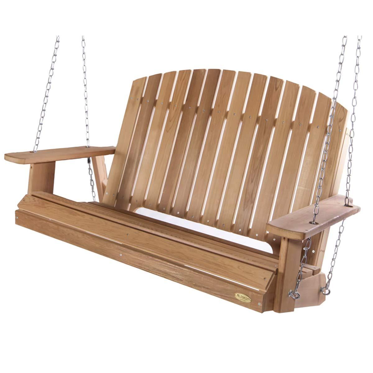 All Things Cedar Ps60 Sw10 5 Ft Cedar Garden Swing With Comfort Springs In Preferred A4 Ft Cedar Pergola Swings (View 9 of 30)