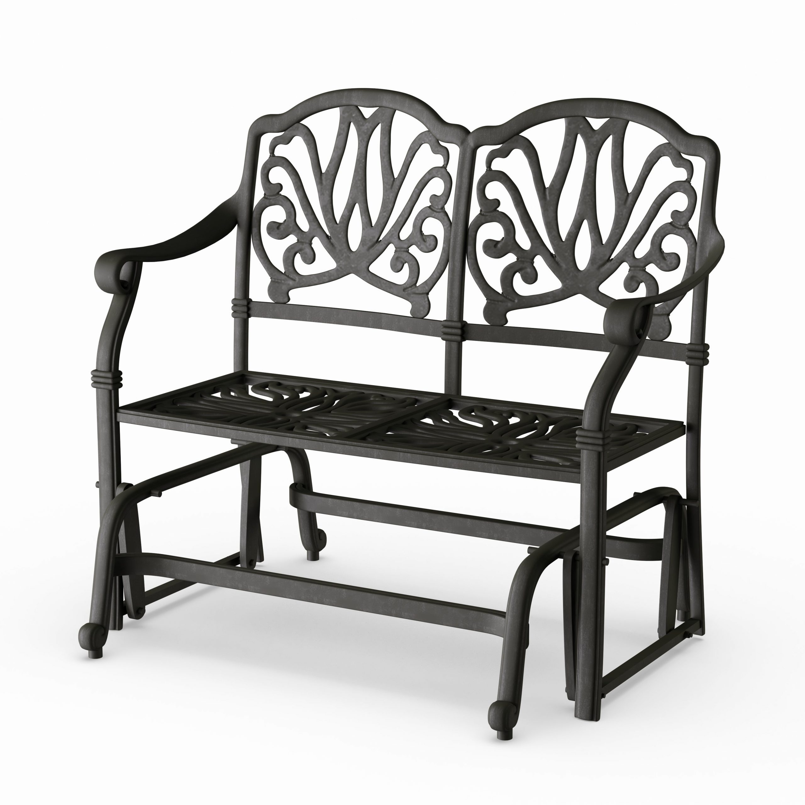 Aluminum Glider Benches With Cushion With Fashionable Havenside Home Avalon Cast Aluminum Glider Bench With Seat Cushion (View 5 of 30)