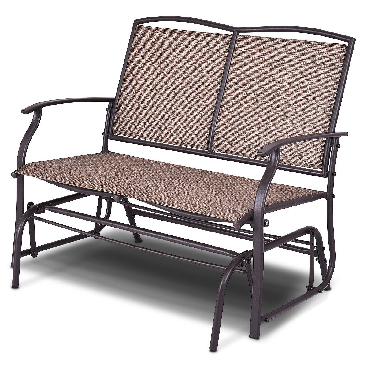 Aluminum Outdoor Double Glider Benches Within Trendy Amazon : Allblessings 2 Person Patio Glider Rocking (View 7 of 30)