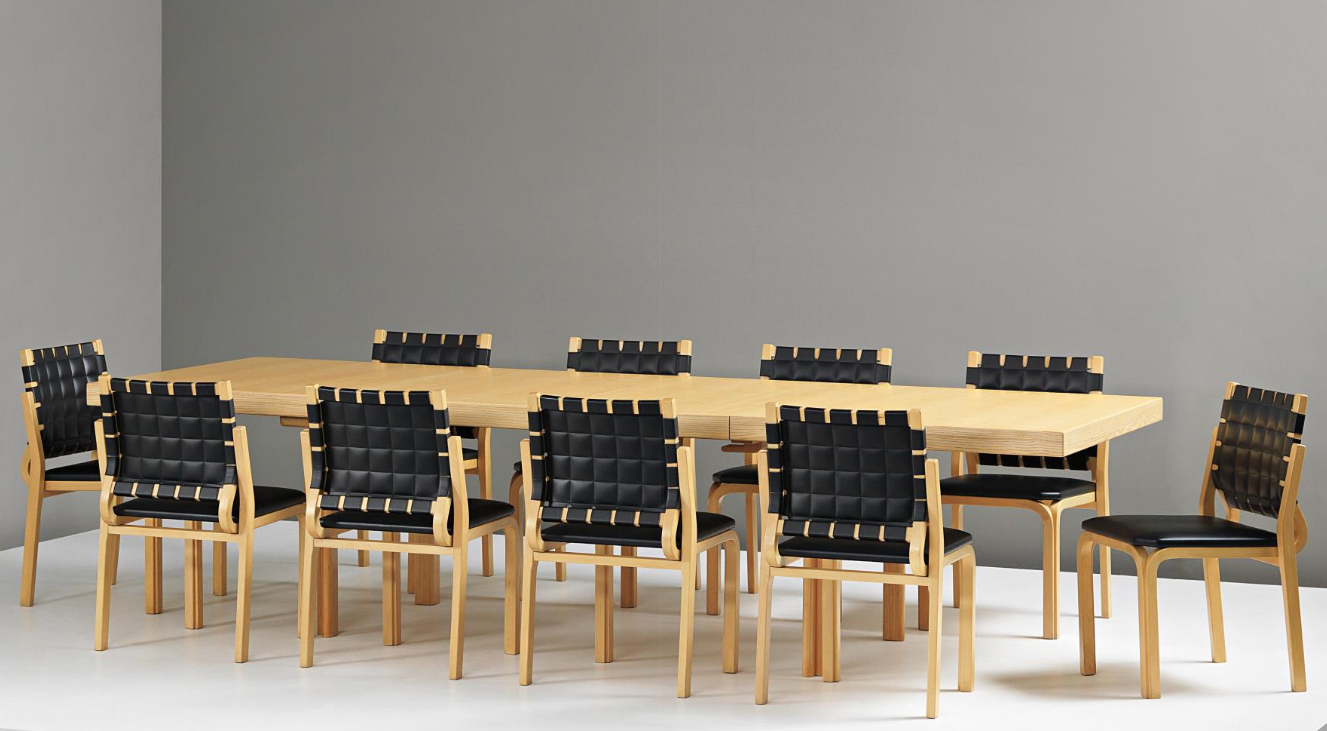 Alvar Aalto Extendable 'h Leg' Dining Table,circa 1956 And Regarding Well Liked Transitional 8 Seating Rectangular Helsinki Dining Tables (View 2 of 30)