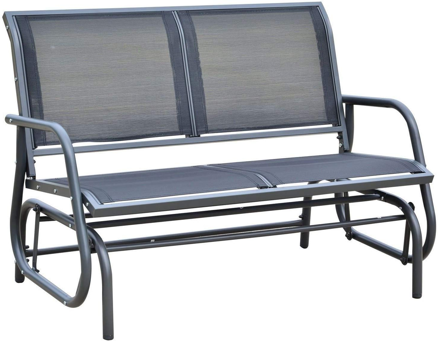 Featured Photo of 2 Person Gray Steel Outdoor Swings