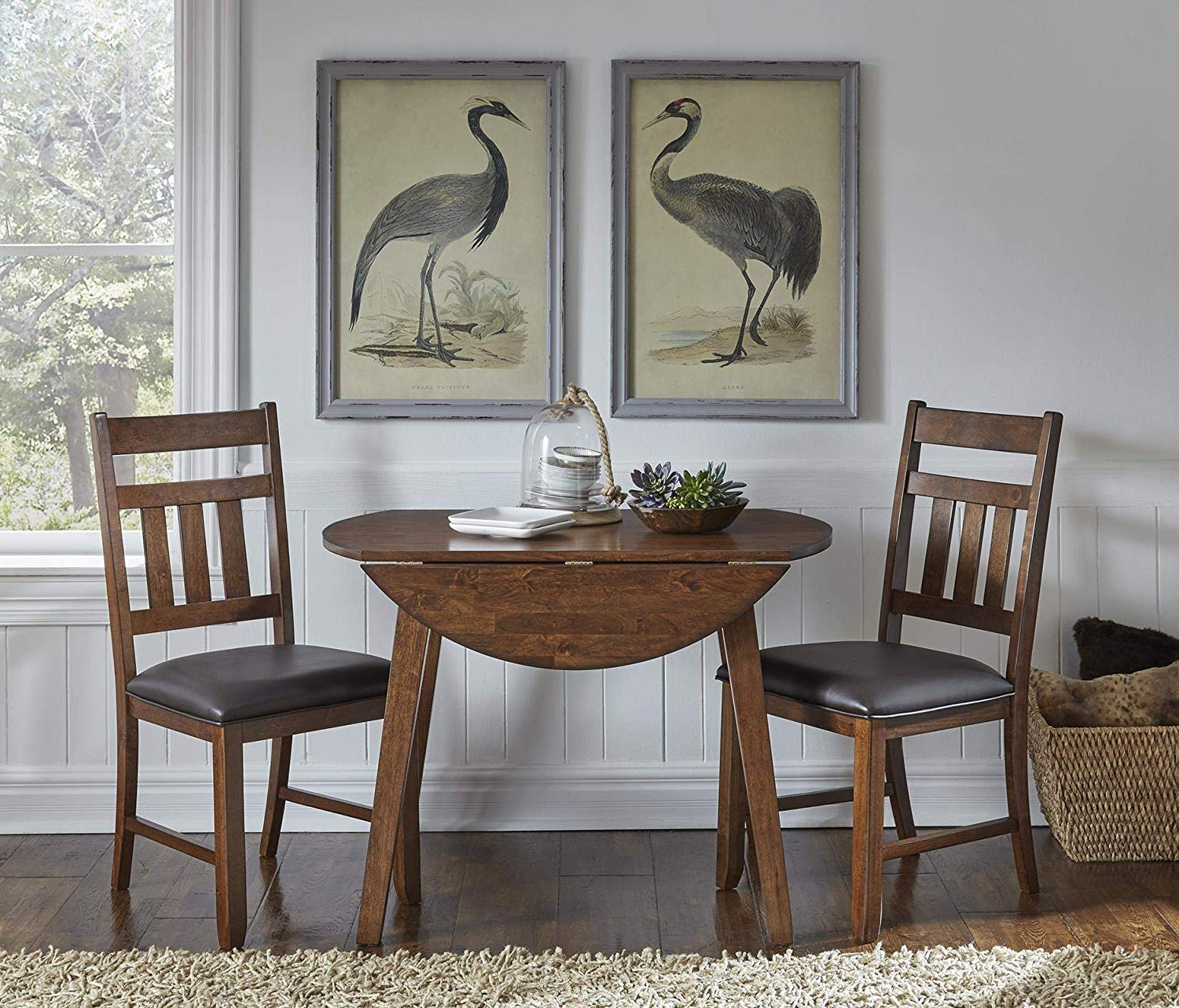 Amazon – A America Mason 42inch Round Dropleaf Table Pertaining To Well Known Transitional 4 Seating Drop Leaf Casual Dining Tables (View 11 of 30)