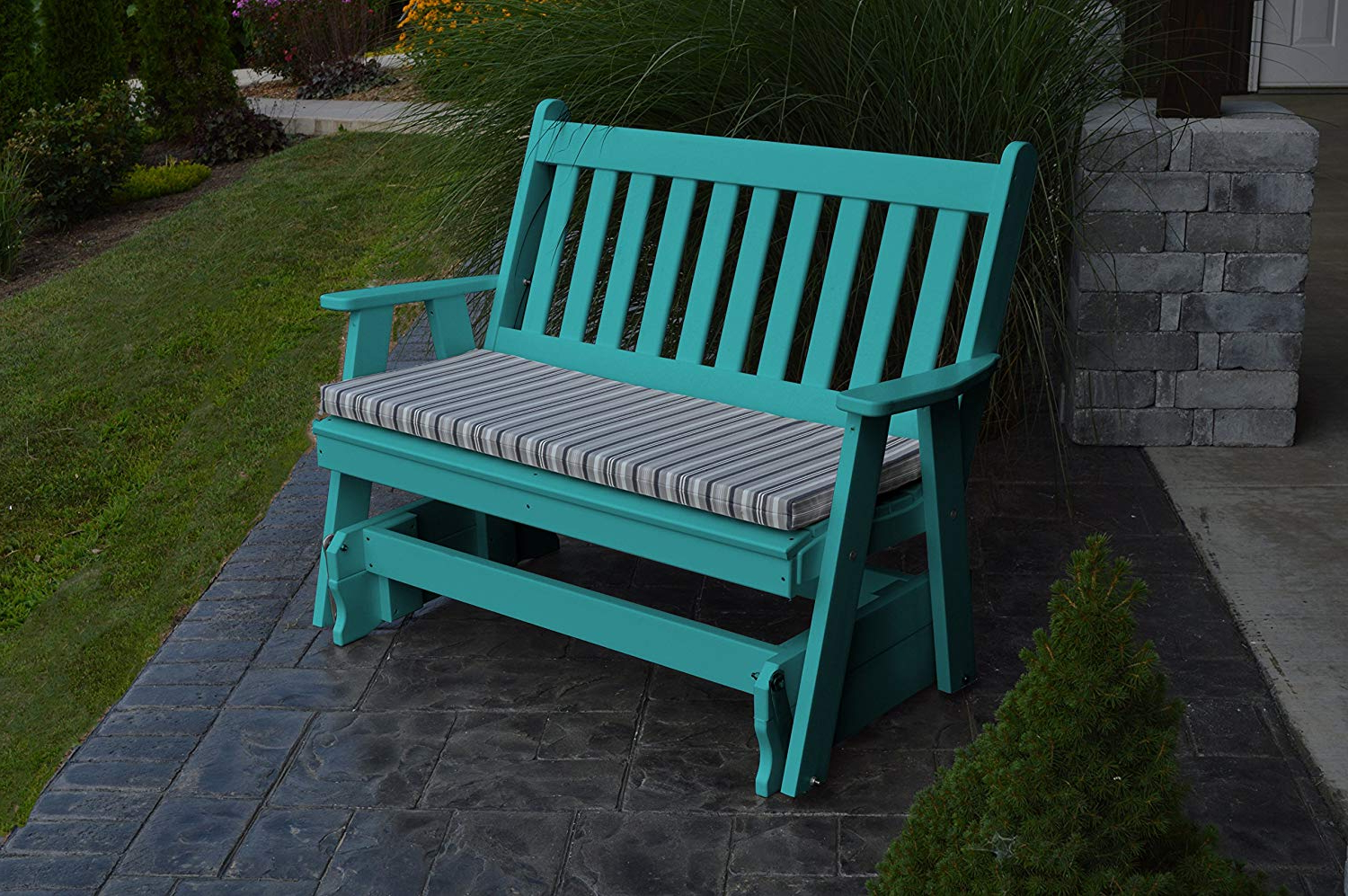 Amazon: A & L Furniture Poly Traditional English Glider With Regard To Widely Used Traditional Glider Benches (View 3 of 30)