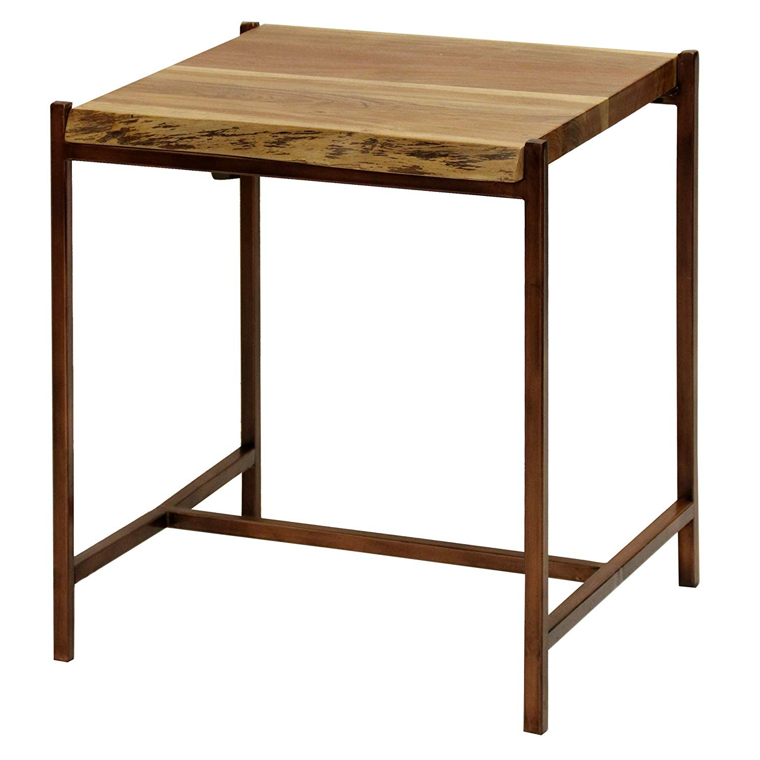 Amazon: Collective Design Transitional Solid Acacia Wood Within Most Recently Released Acacia Dining Tables With Black Rocket Legs (View 9 of 30)