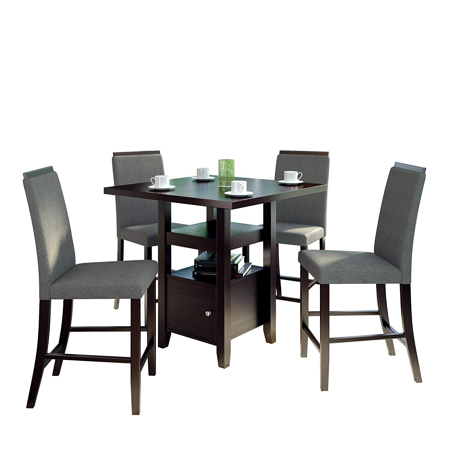 Featured Photo of Bistro Transitional 4 Seating Square Dining Tables