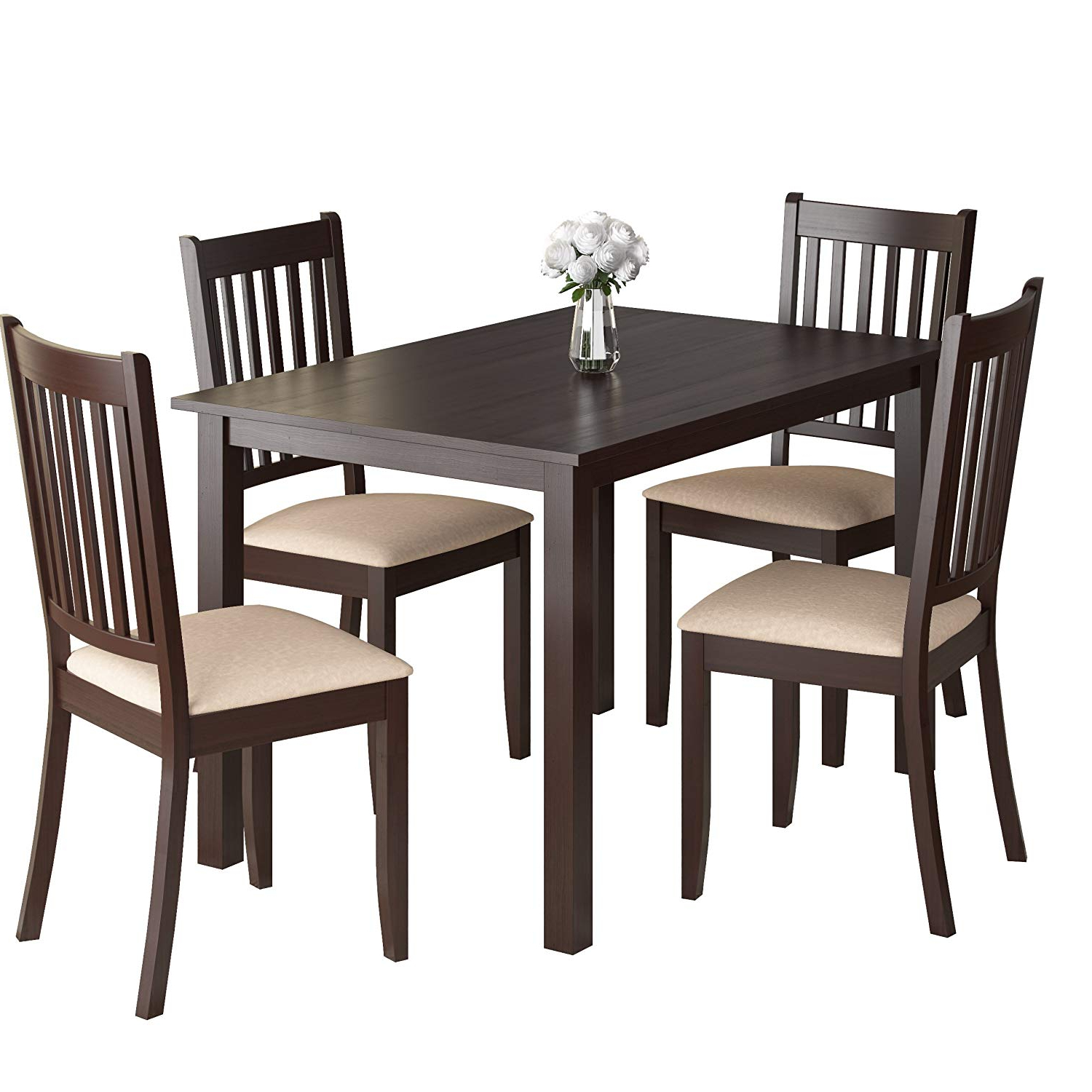 Amazon – Corliving Drg 595 Z Atwood Dining Set, Brown Throughout Widely Used Atwood Transitional Square Dining Tables (View 2 of 30)