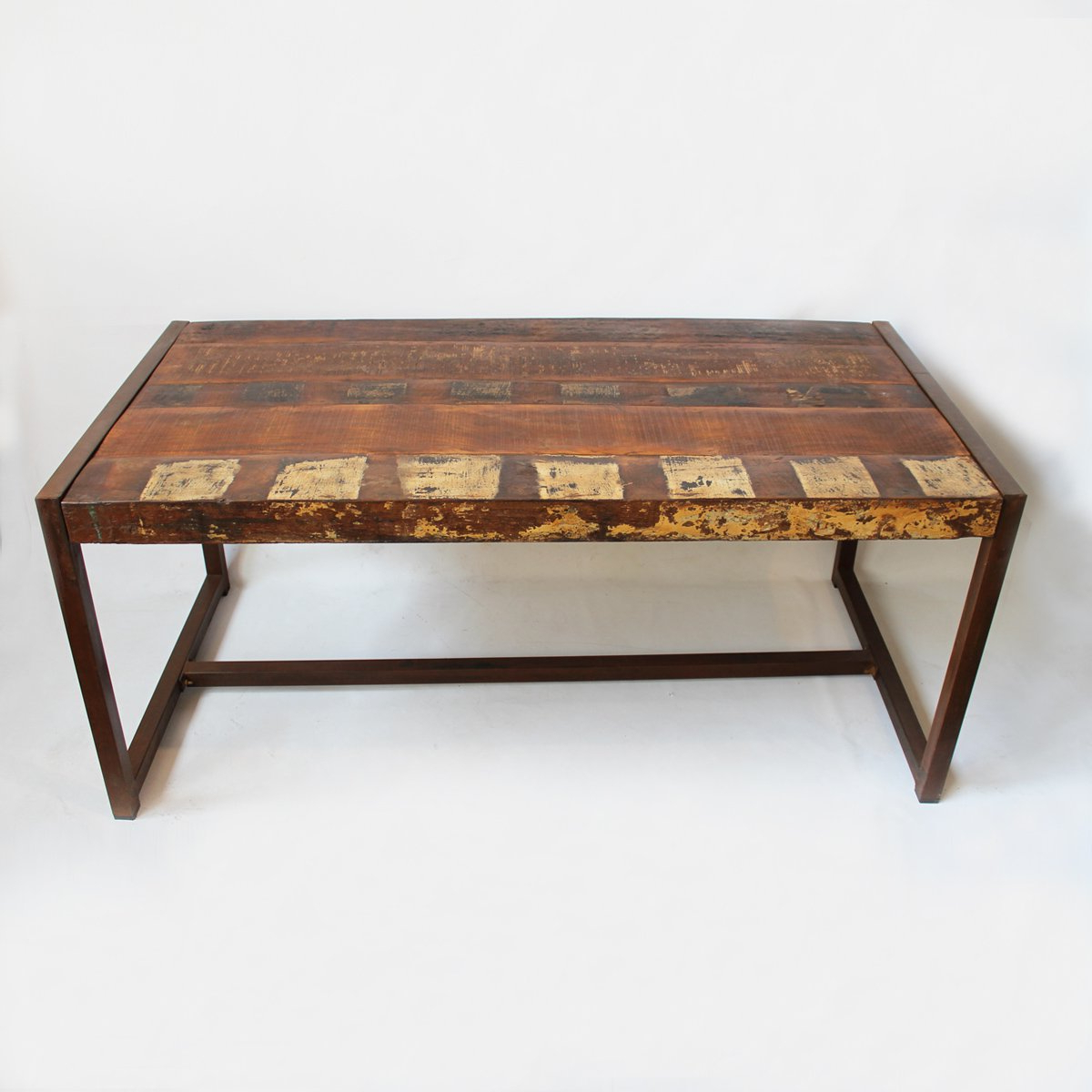 Amazon: Design Mix Furniture Reclaimed Wood & Iron Throughout Most Recent Iron Wood Dining Tables (View 16 of 30)