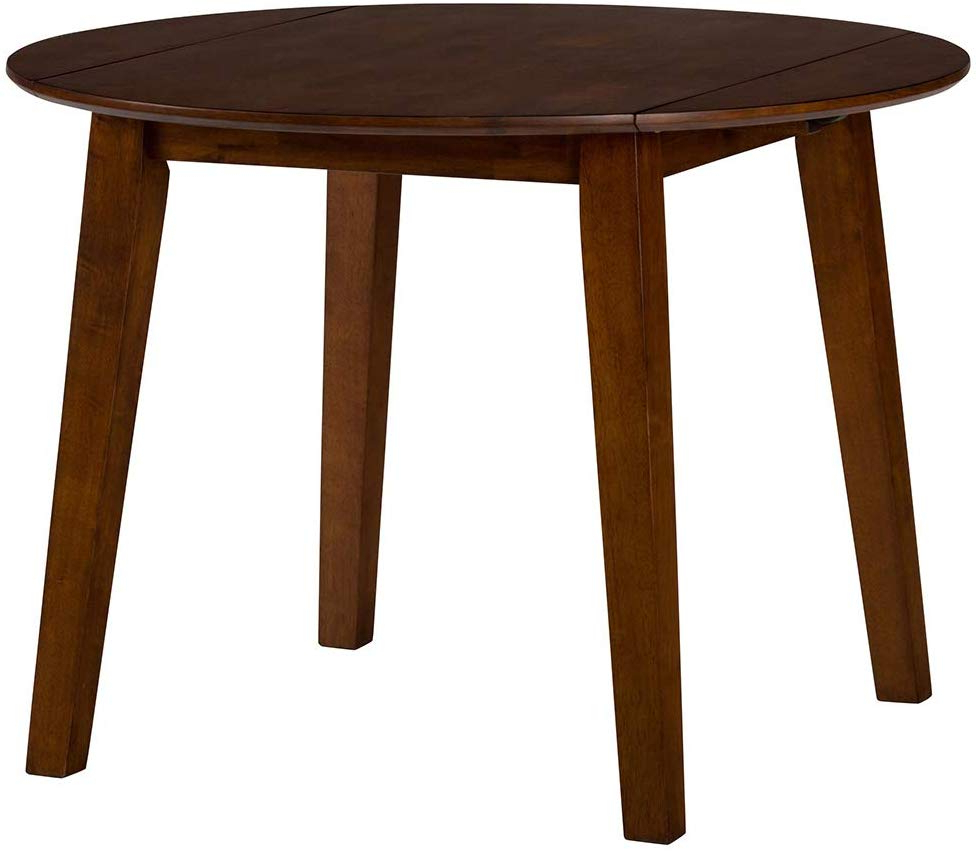 Amazon – Jofran Simplicity Caramel Round Drop/leaf Intended For Most Recently Released Transitional Drop Leaf Casual Dining Tables (View 3 of 30)