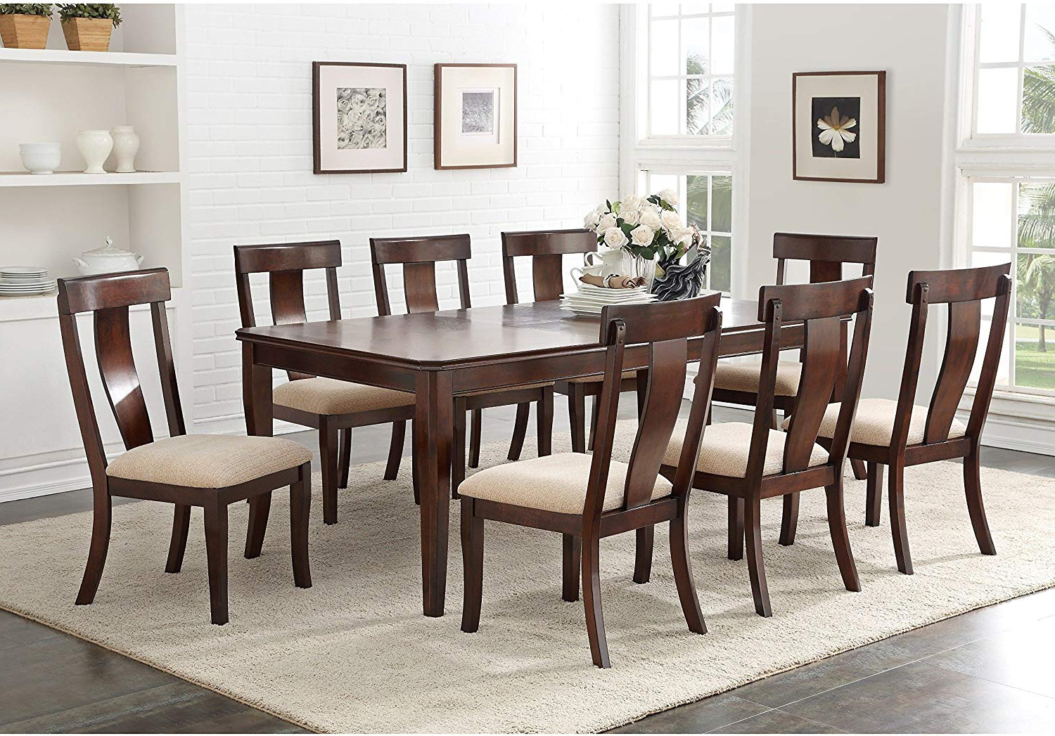 Amazon – K And B Furniture Co Inc Cherry Wood Inside Famous Contemporary Rectangular Dining Tables (View 8 of 30)