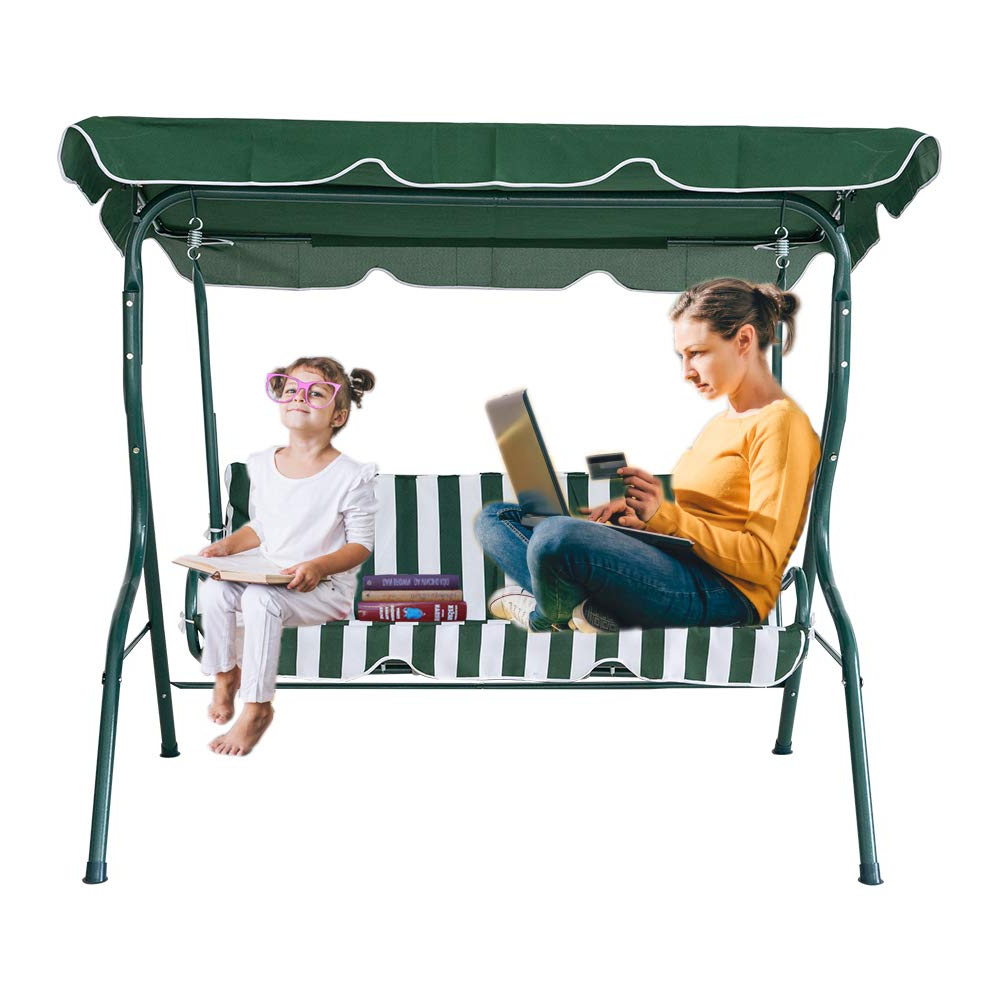 Amazon : Karmas Product 2 3 Person Outdoor Patio Swing Intended For Most Recently Released Garden Leisure Outdoor Hammock Patio Canopy Rocking Chairs (View 6 of 30)