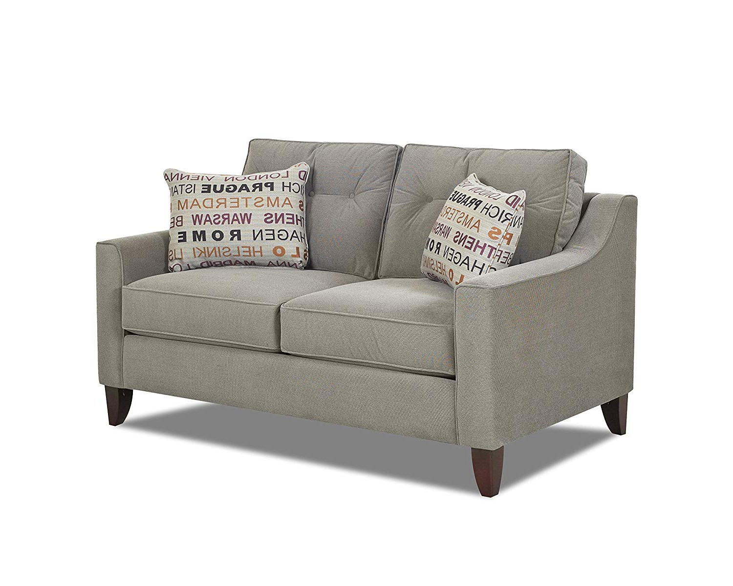 Amazon: Klaussner Audrina Loveseat, Gray: Kitchen & Dining With Best And Newest Transitional 8 Seating Rectangular Helsinki Dining Tables (View 3 of 30)