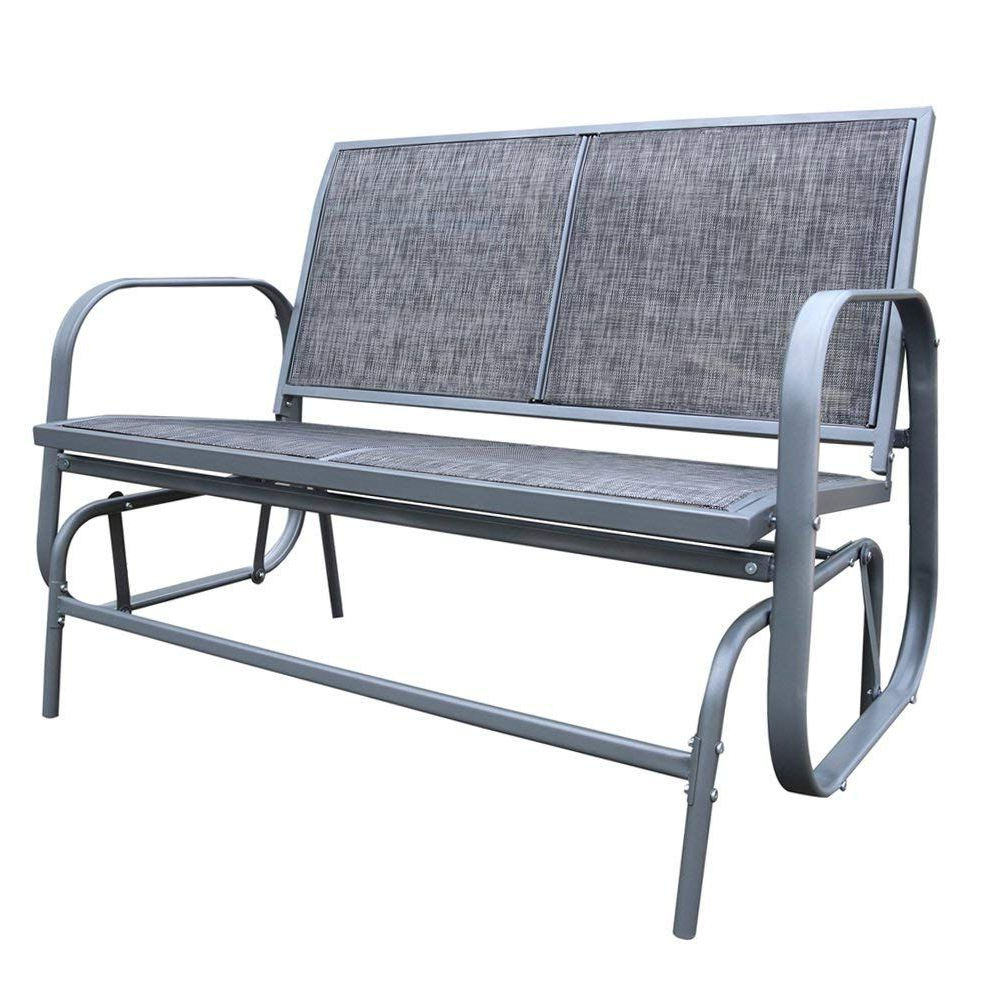 Amazon : Le Papillon Outdoor Glider Bench 2 Person With Popular Outdoor Patio Swing Glider Bench Chair S (View 15 of 30)